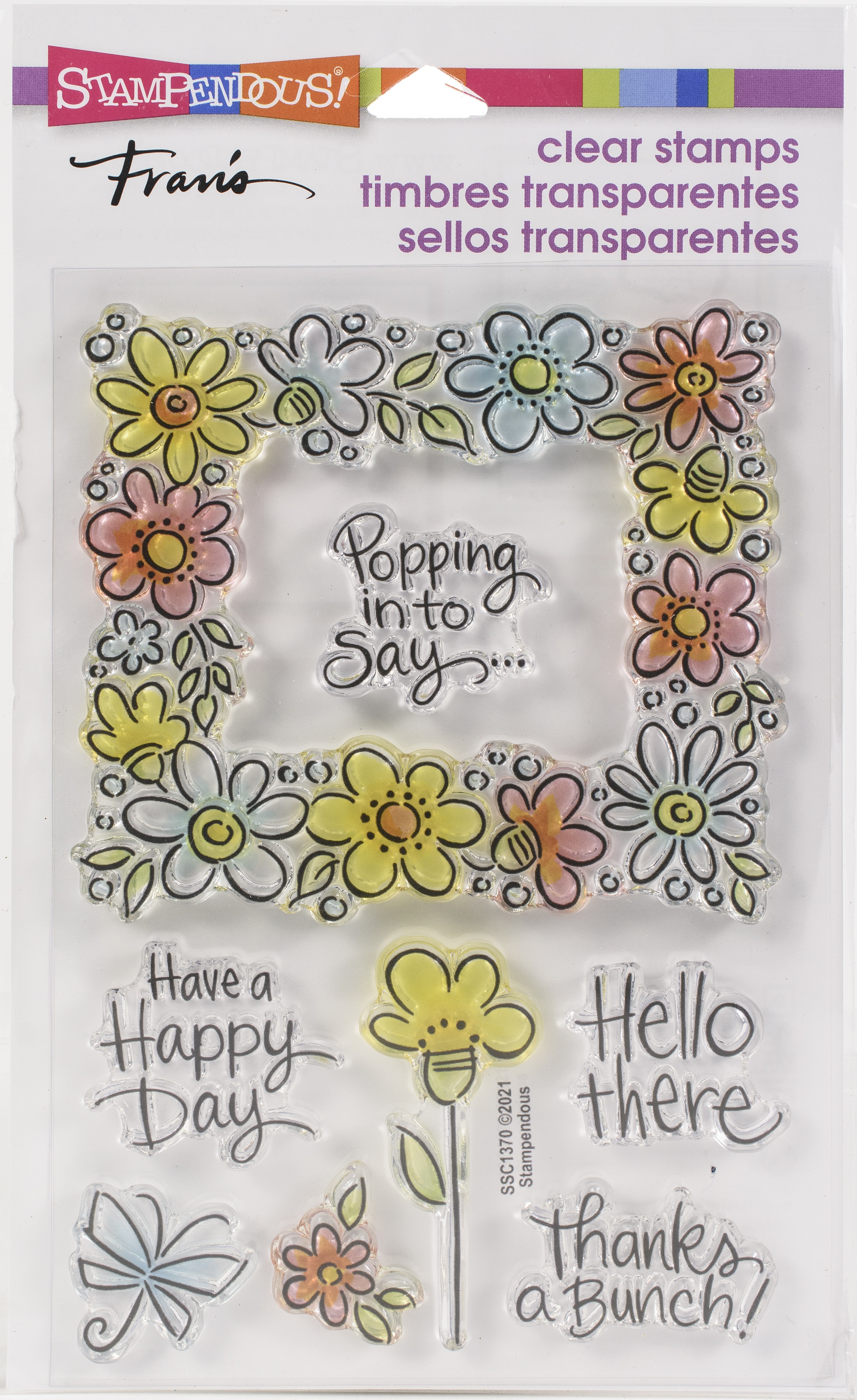 Stampendous Perfectly Clear Stamps-Flower Frame
