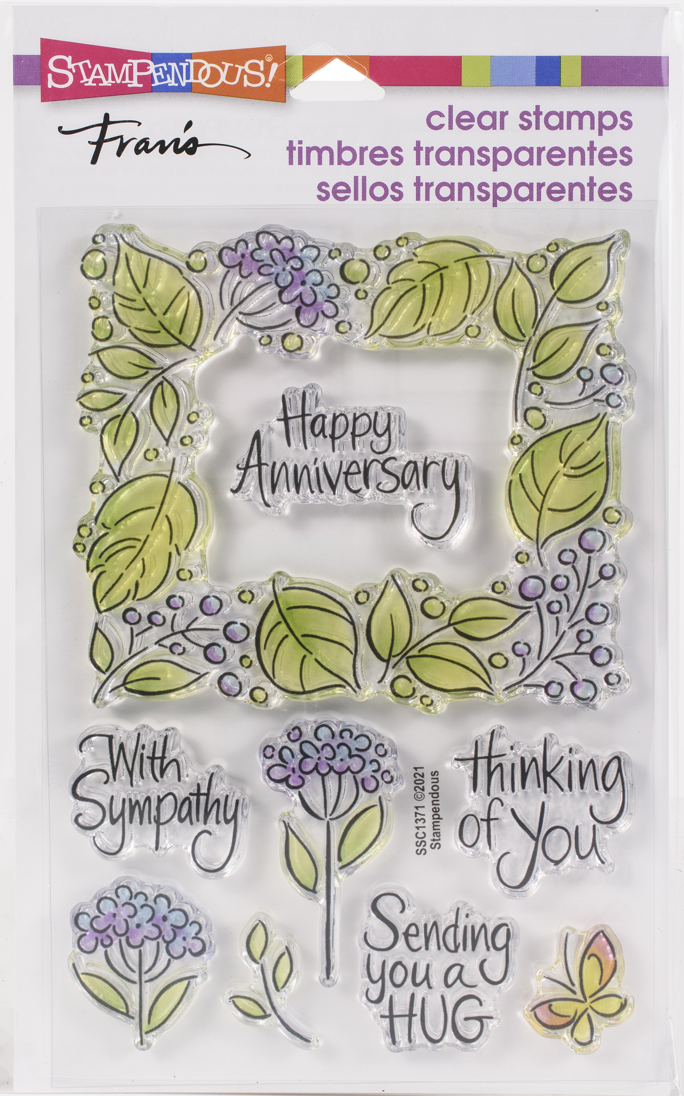 Stampendous Perfectly Clear Stamps-Leafy Frame