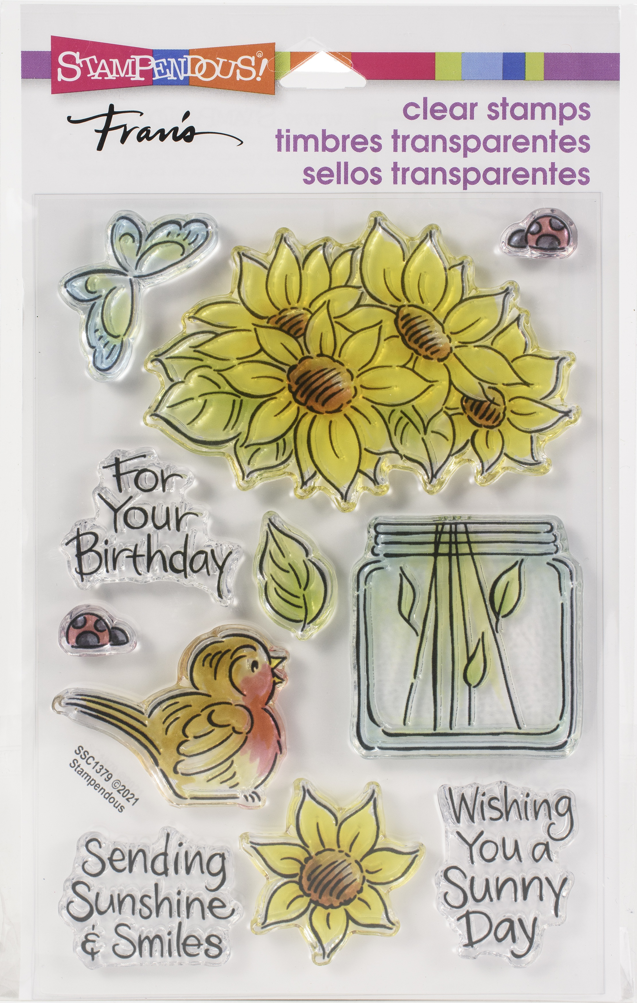 Stampendous Perfectly Clear Stamps-Pop Sunflower
