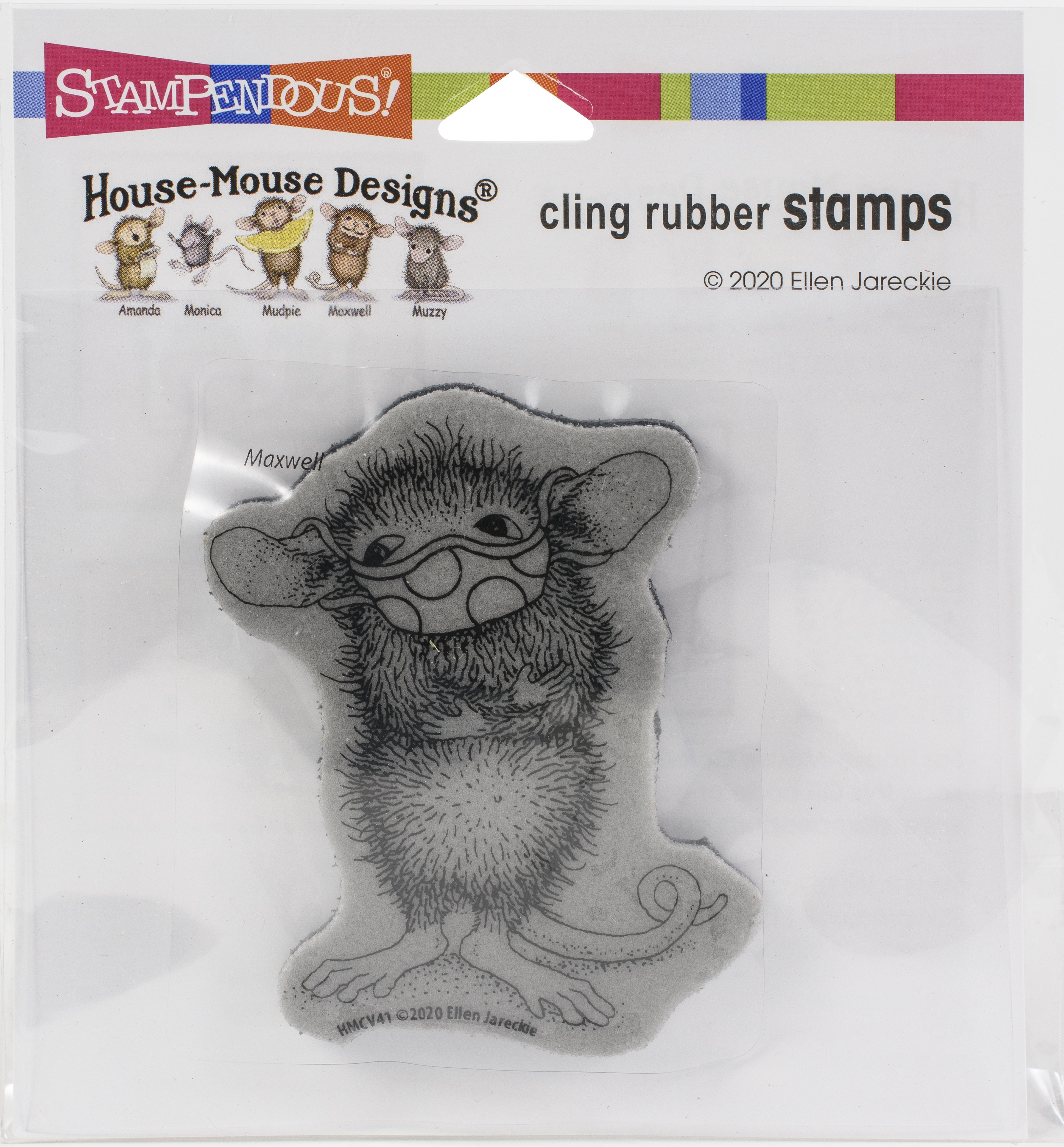 ^Stampendous - House Mouse Cling Stamp - Masked Maxwell