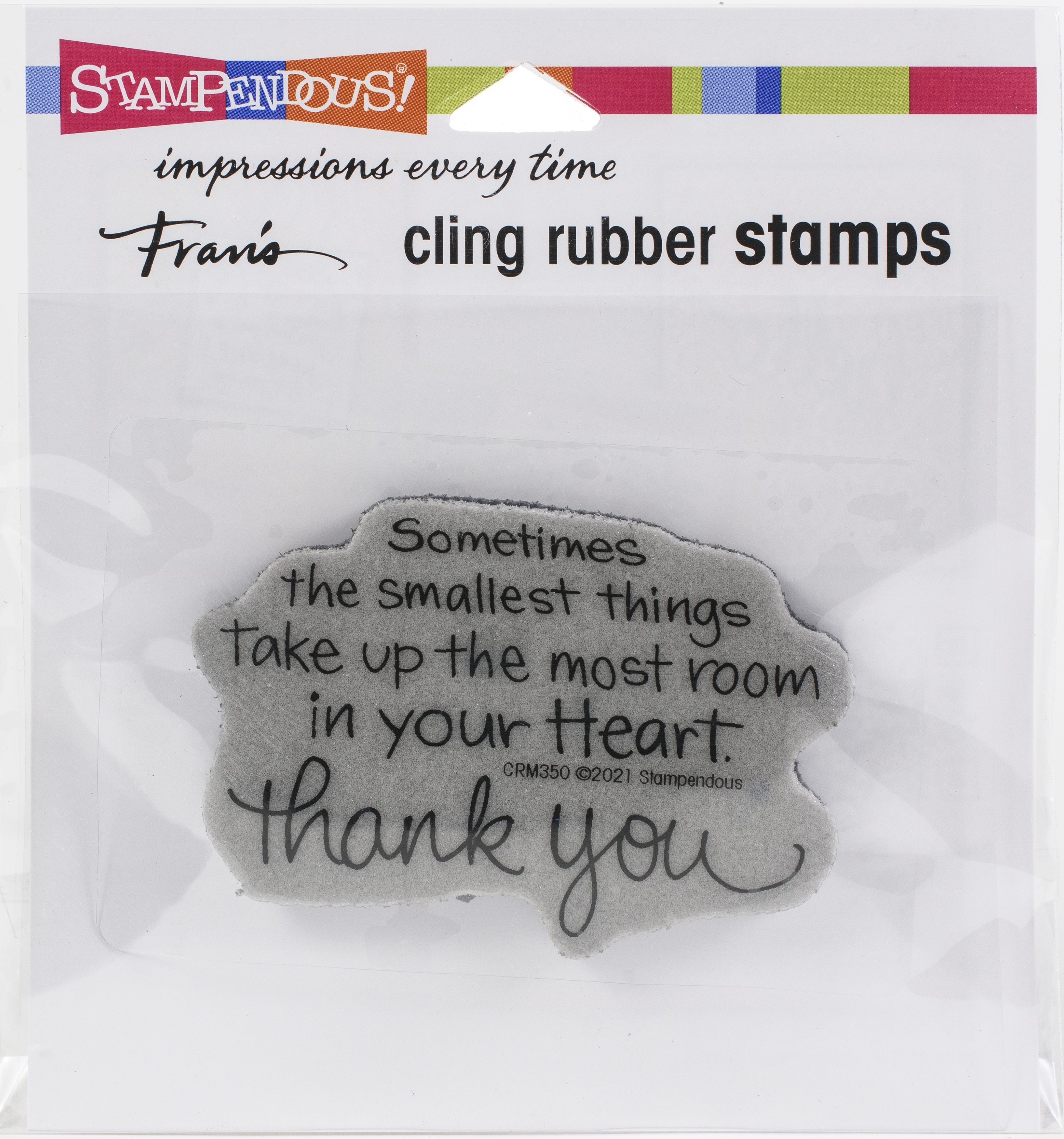 Stampendous Cling Stamp-Smallest Things