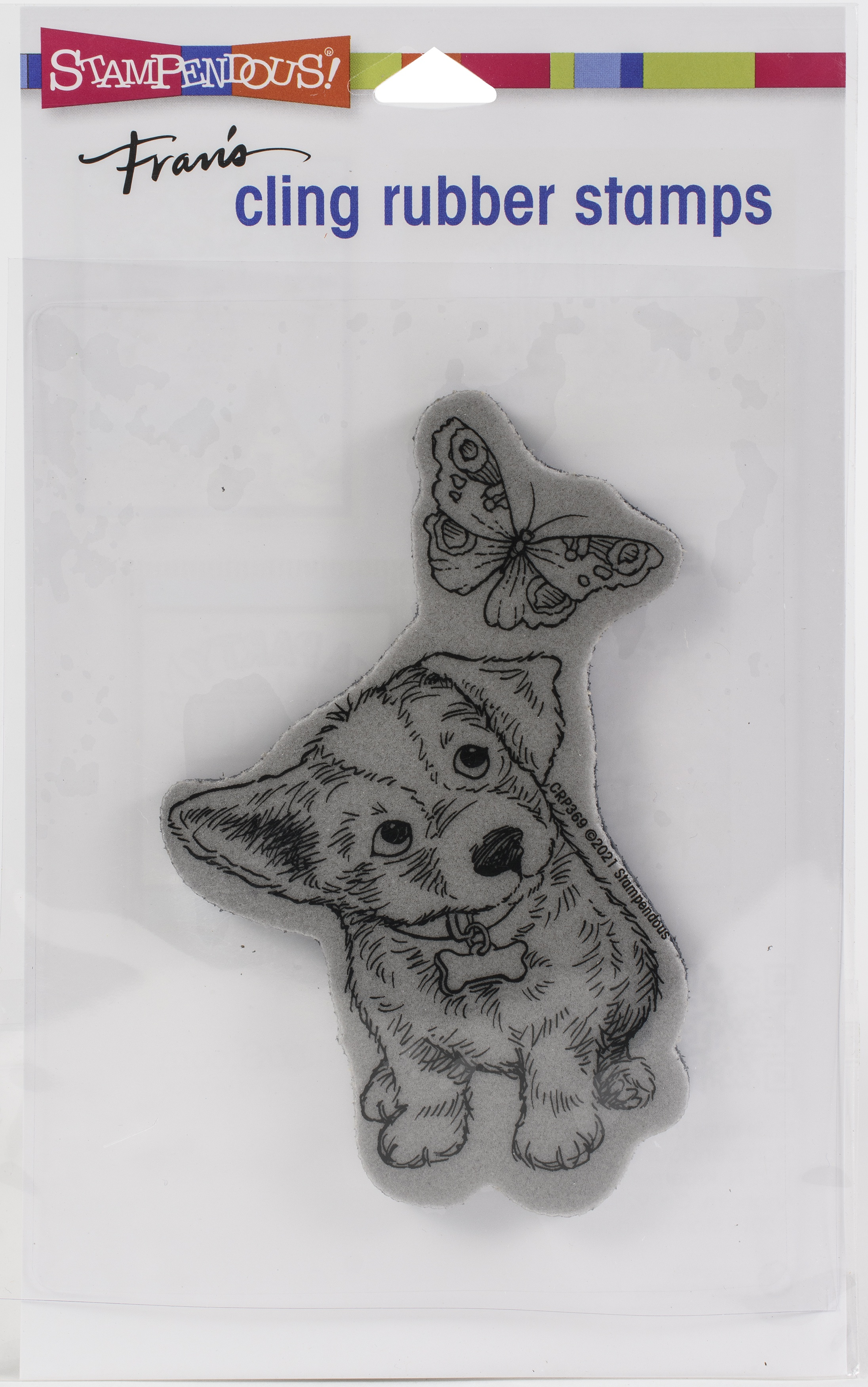 Stampendous Cling Stamp-Curious Puppy