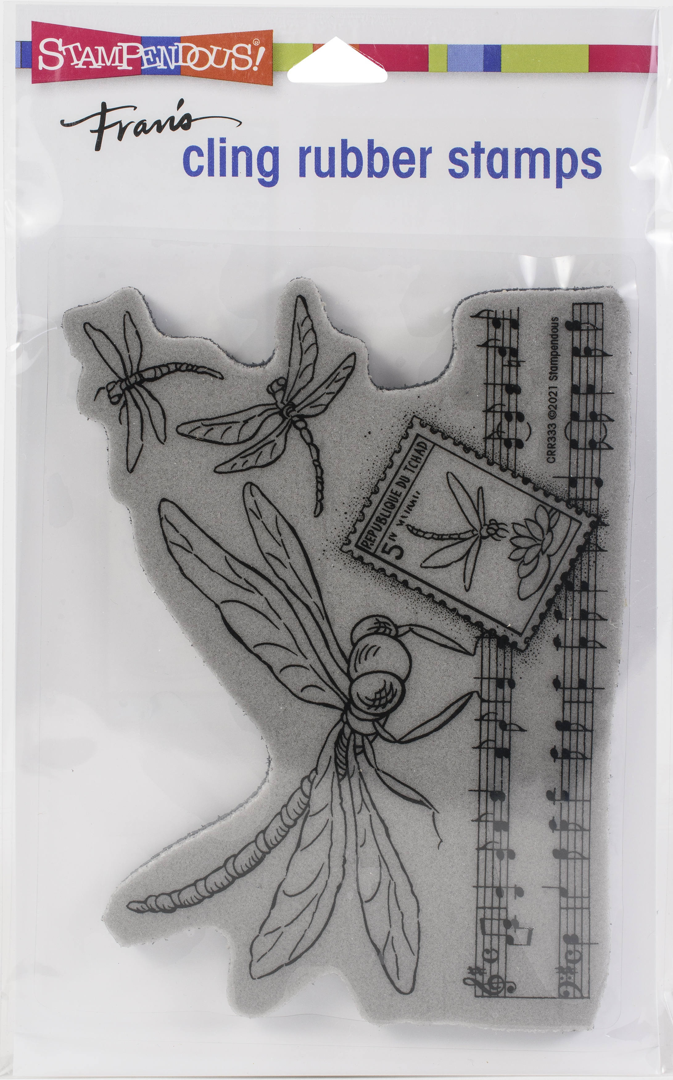 Stampendous Cling Stamp-Dragonfly Song