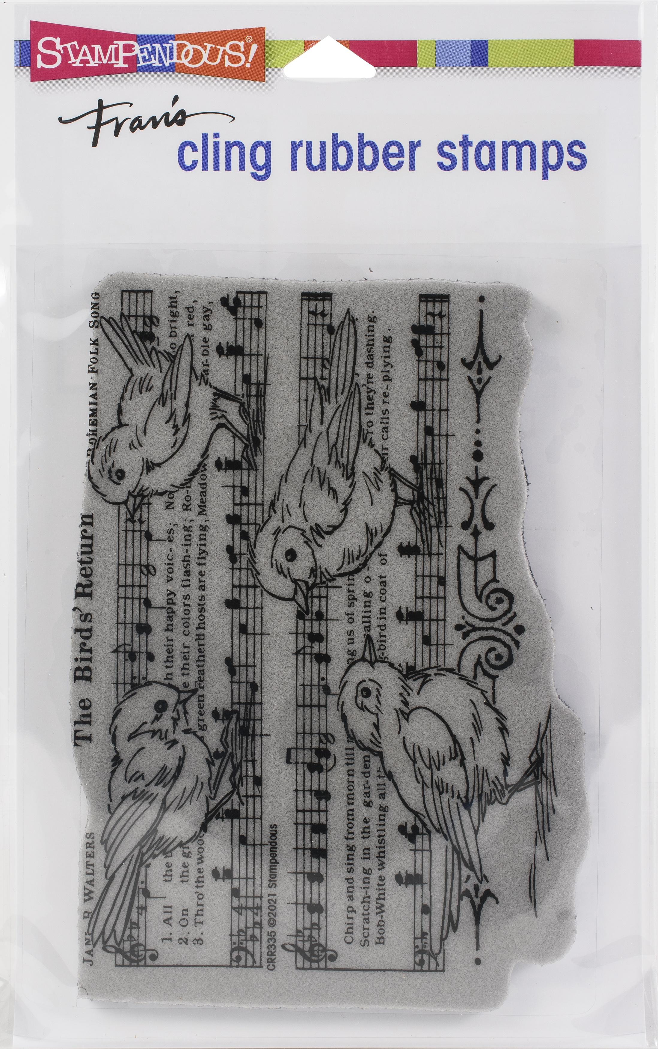 Stampendous Cling Stamp-Birds Return