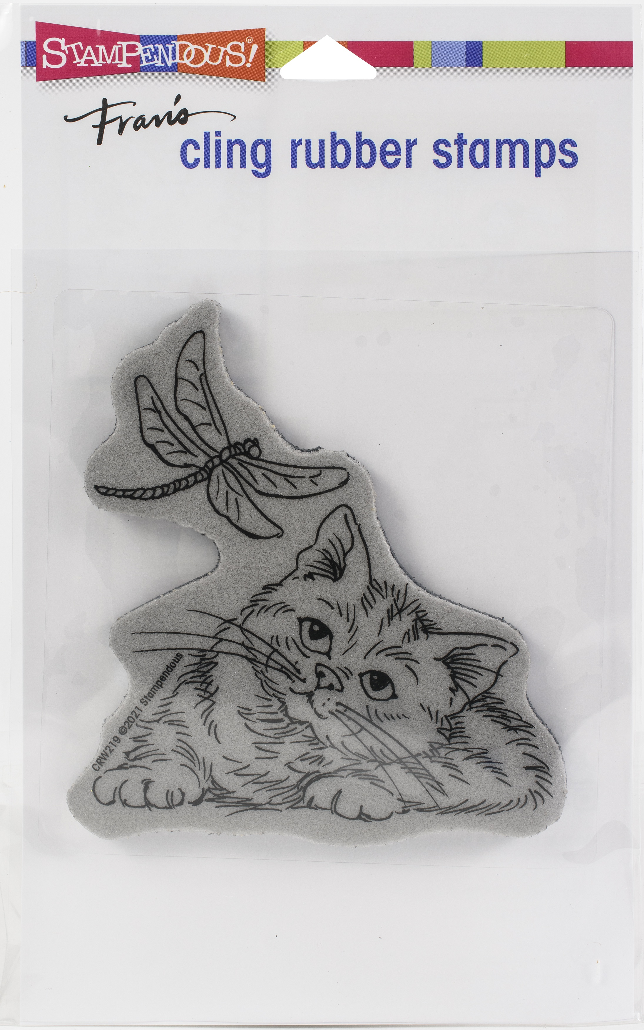Stampendous Cling Stamp-Dragonfly Kitten