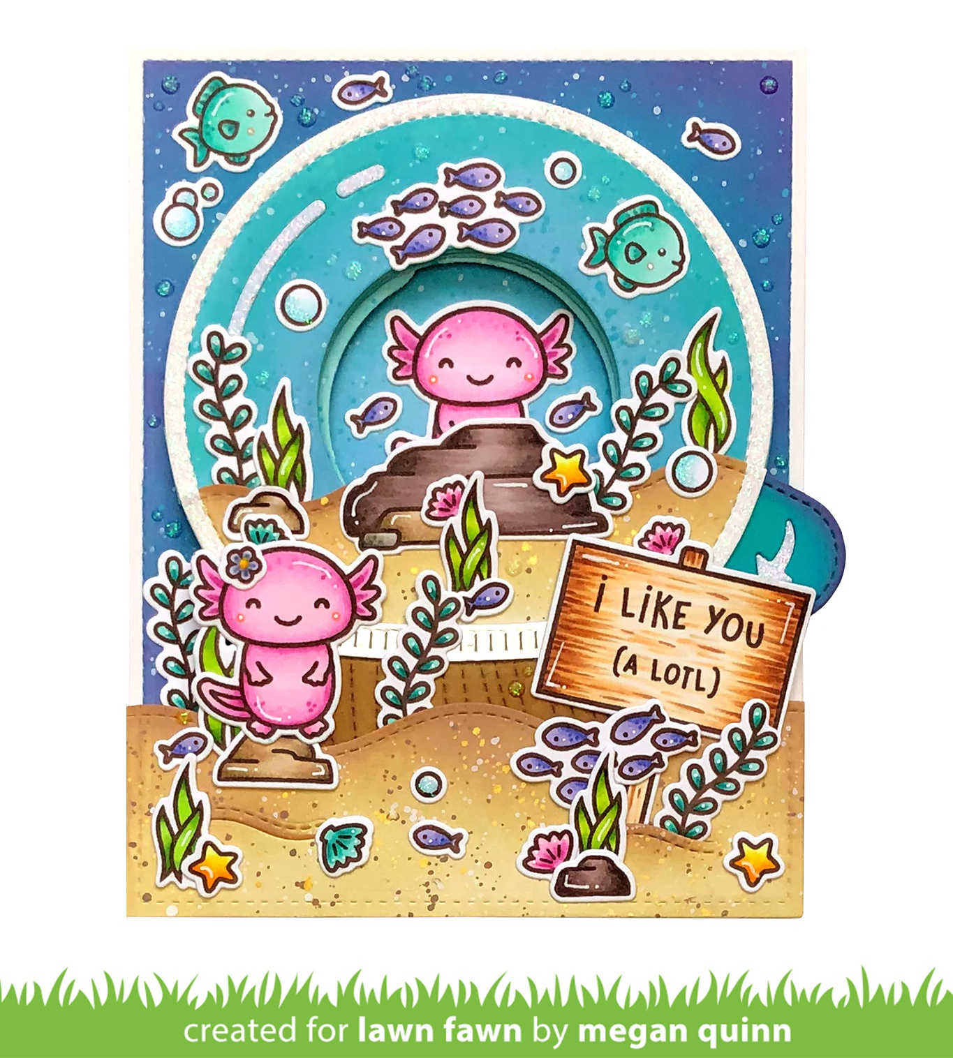 Lawn Fawn Clear Stamps 3X2-I Like You (A lotl)