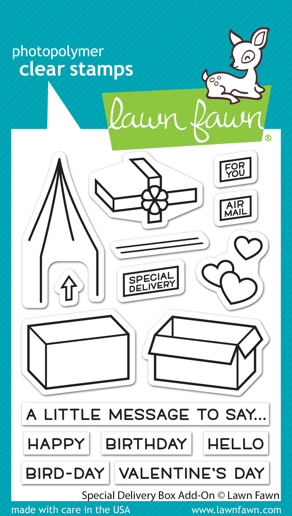 Lawn Fawn Clear Stamps 3X4-Special Delivery Box Add-On
