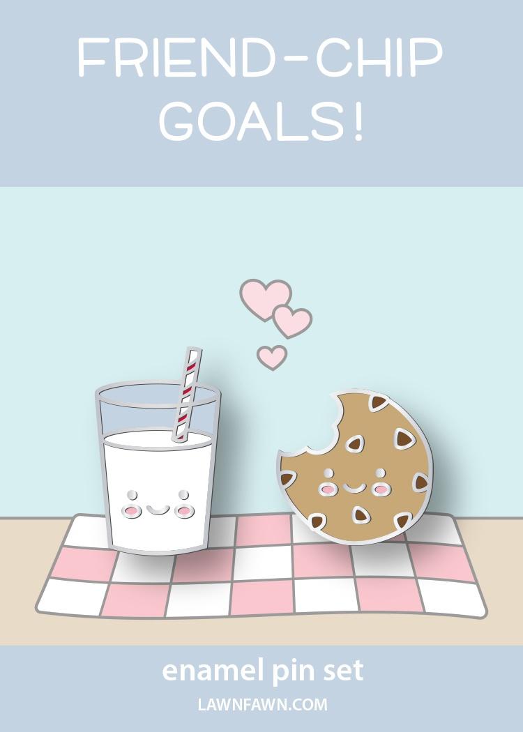 Cookies & Milk- Enamel Pins
