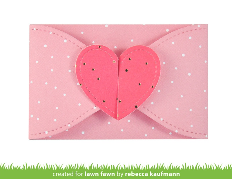 Lawn Cuts Custom Craft Die -Gift Card Heart Envelope