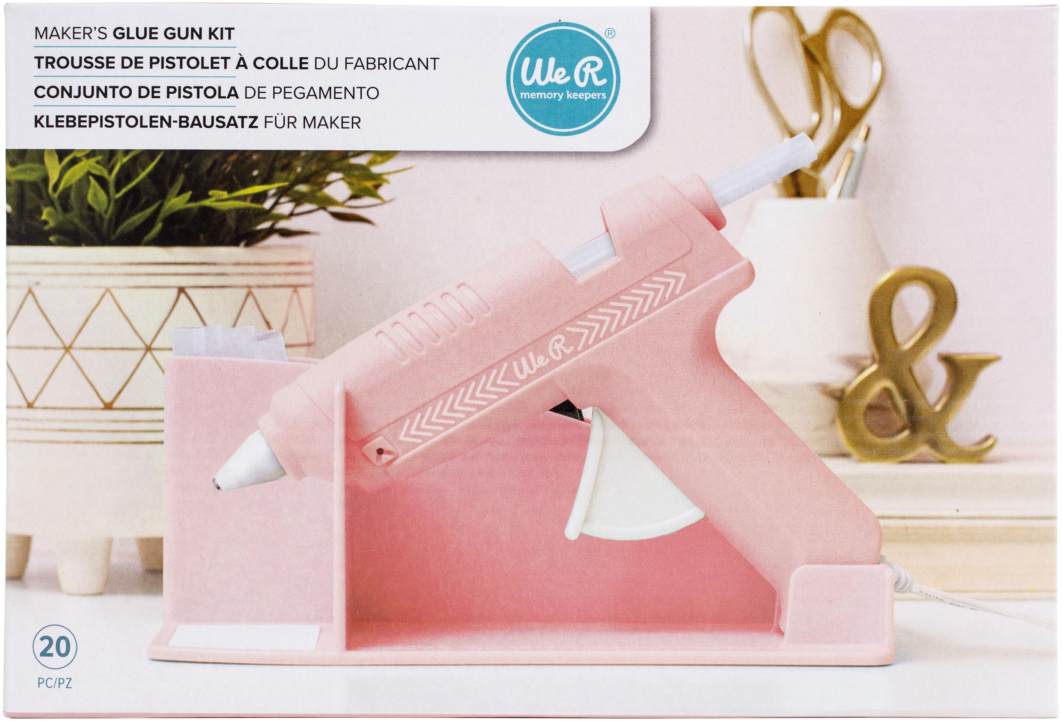 We R Memory Keepers Maker's Glue Gun Kit-Pink