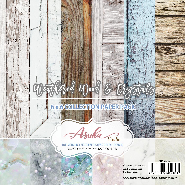 Asuka Studio 6X6 12/Pkg - Weathered Wood & Crystals