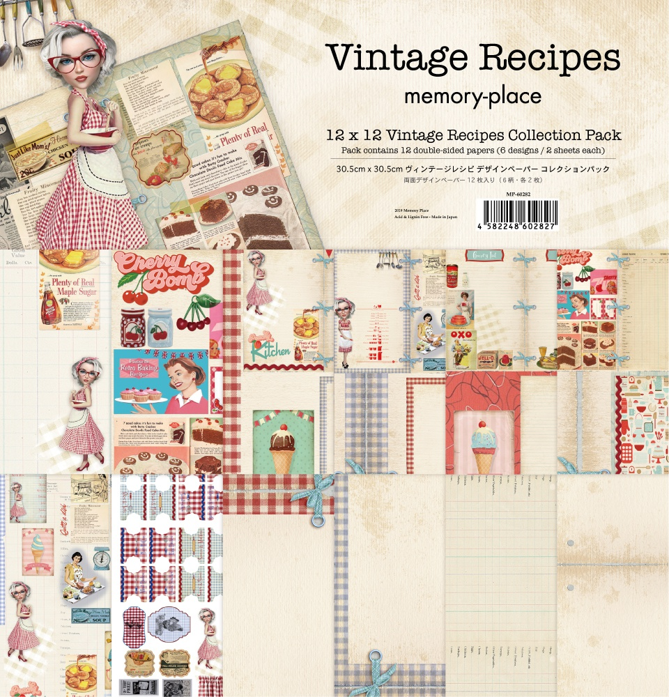 Memory Place Collection Pack 12X12-Vintage Recipes