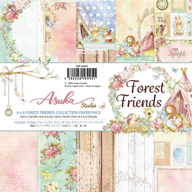 Asuka Studio 6X6 10/Pkg - Forest Friends