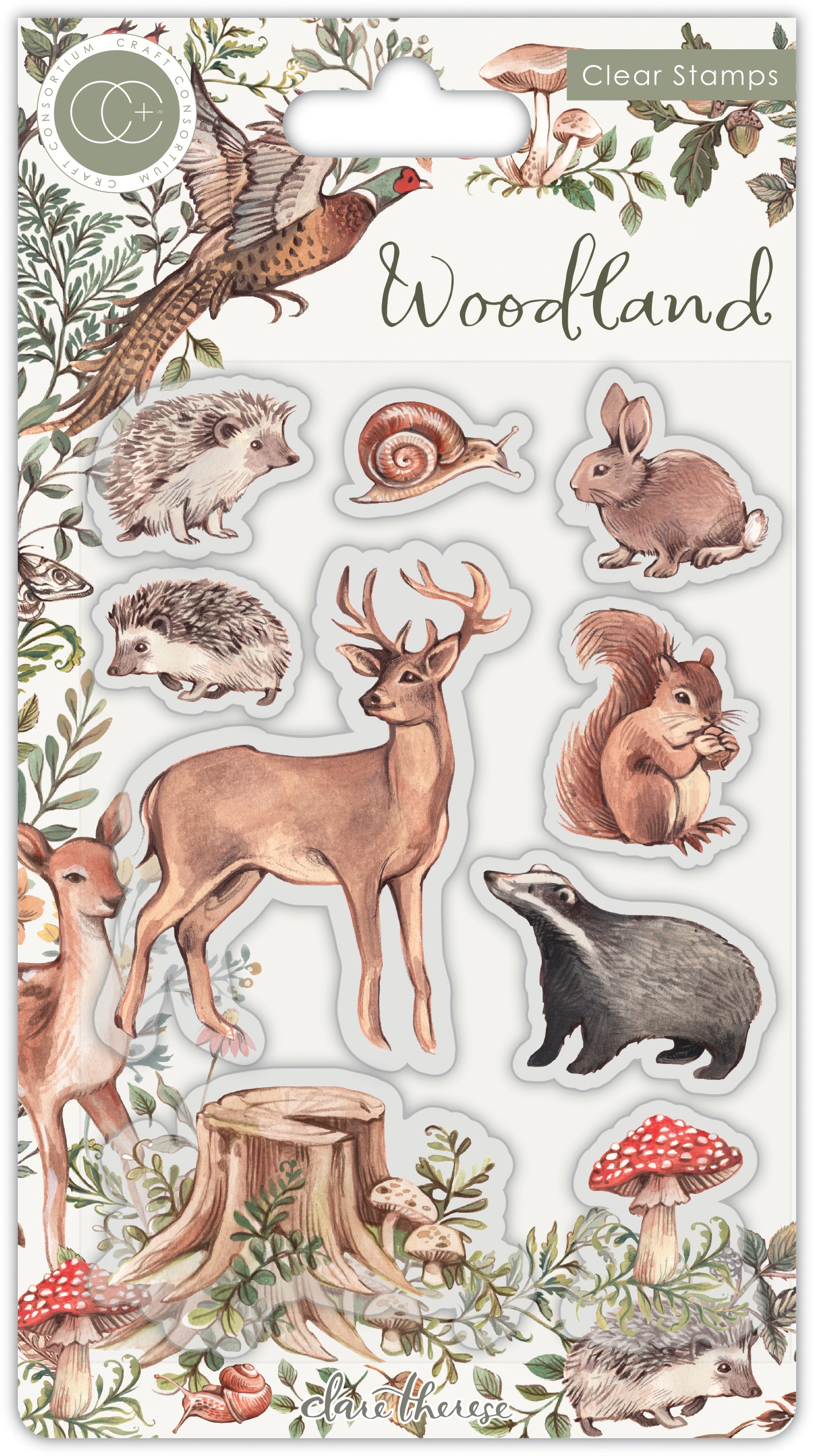 Craft Consortium A5 Clear Stamps-Animals, Woodland