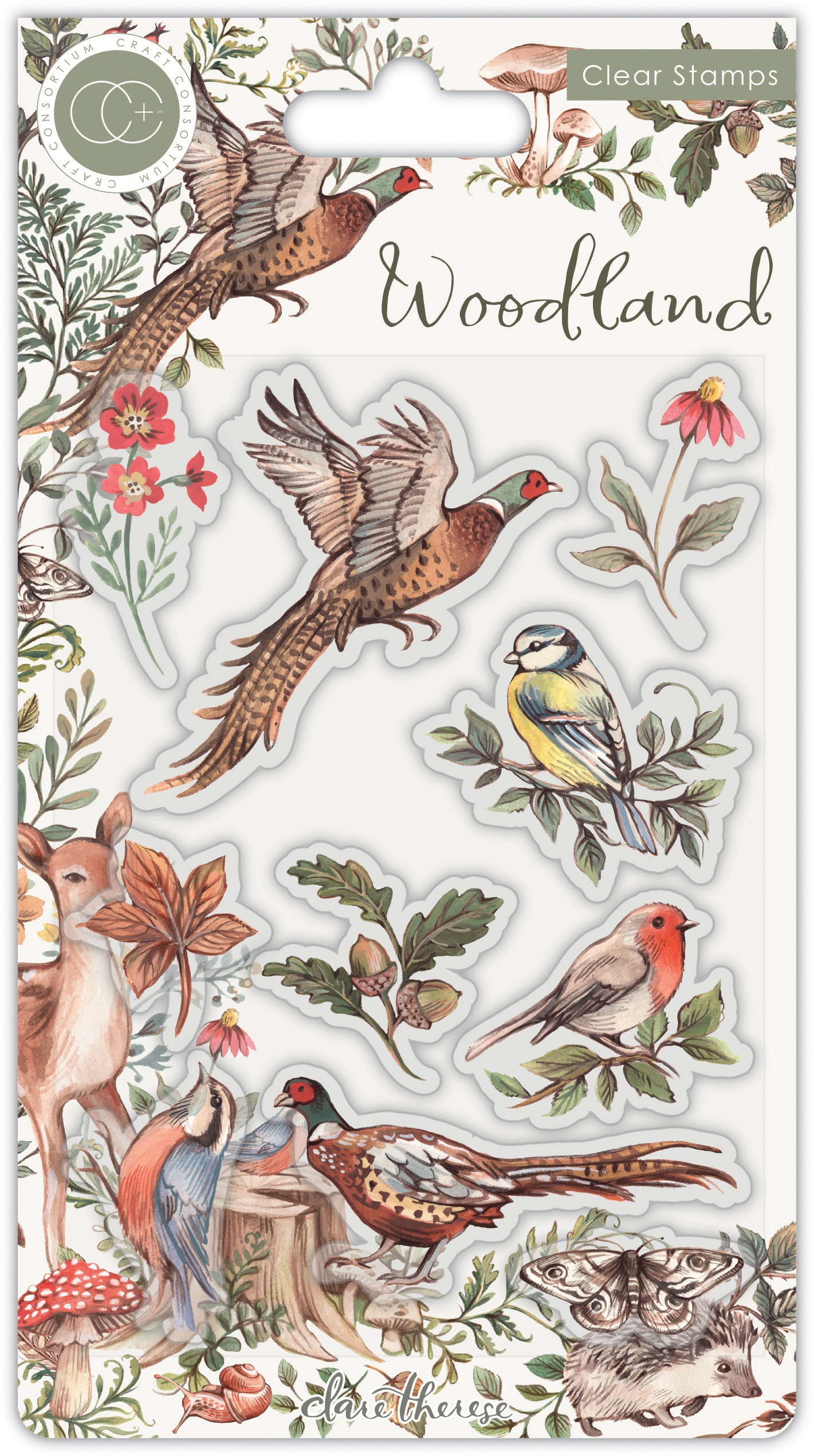Craft Consortium A5 Clear Stamps-Birds, Woodland