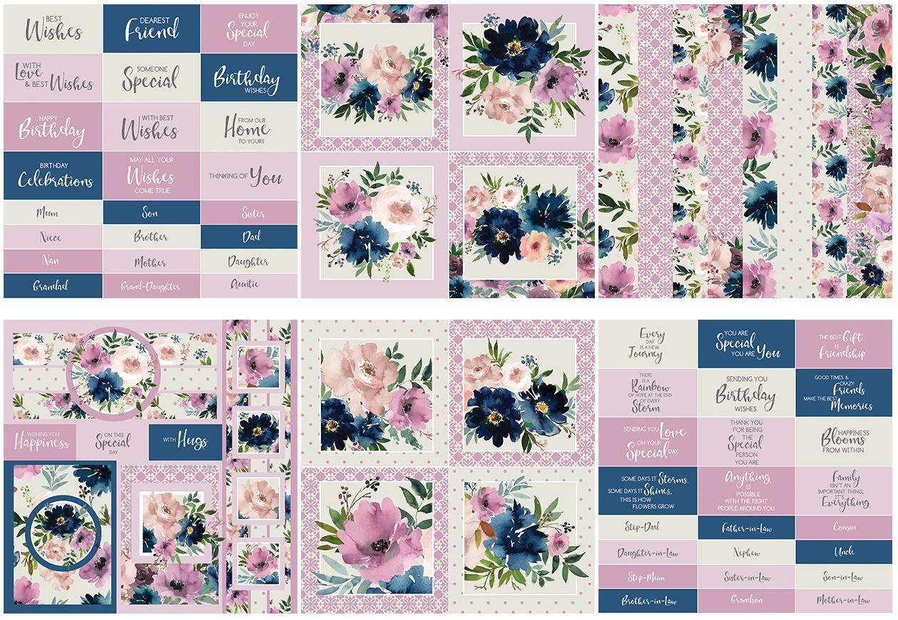 The Paper Boutique Embellishments Pad 8X8 36/Pkg-Damask Delights, 6 Designs