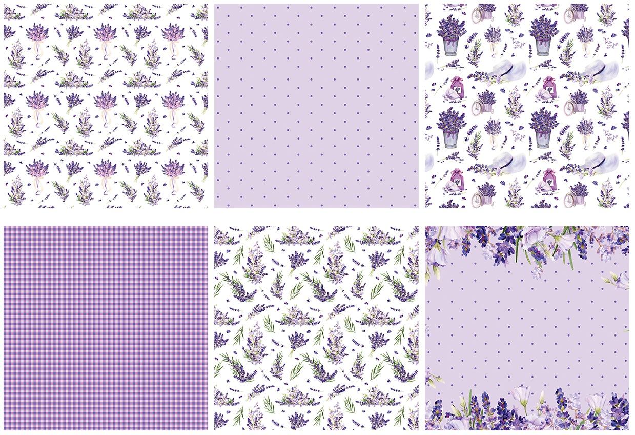 The Paper Boutique Paper Pad 6X6 36/Pkg-Lavender Fields, 6 Designs