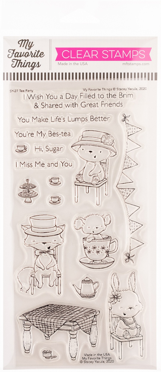 My Favorite Things Stacey Yacula Stamps 4X8-Tea Party