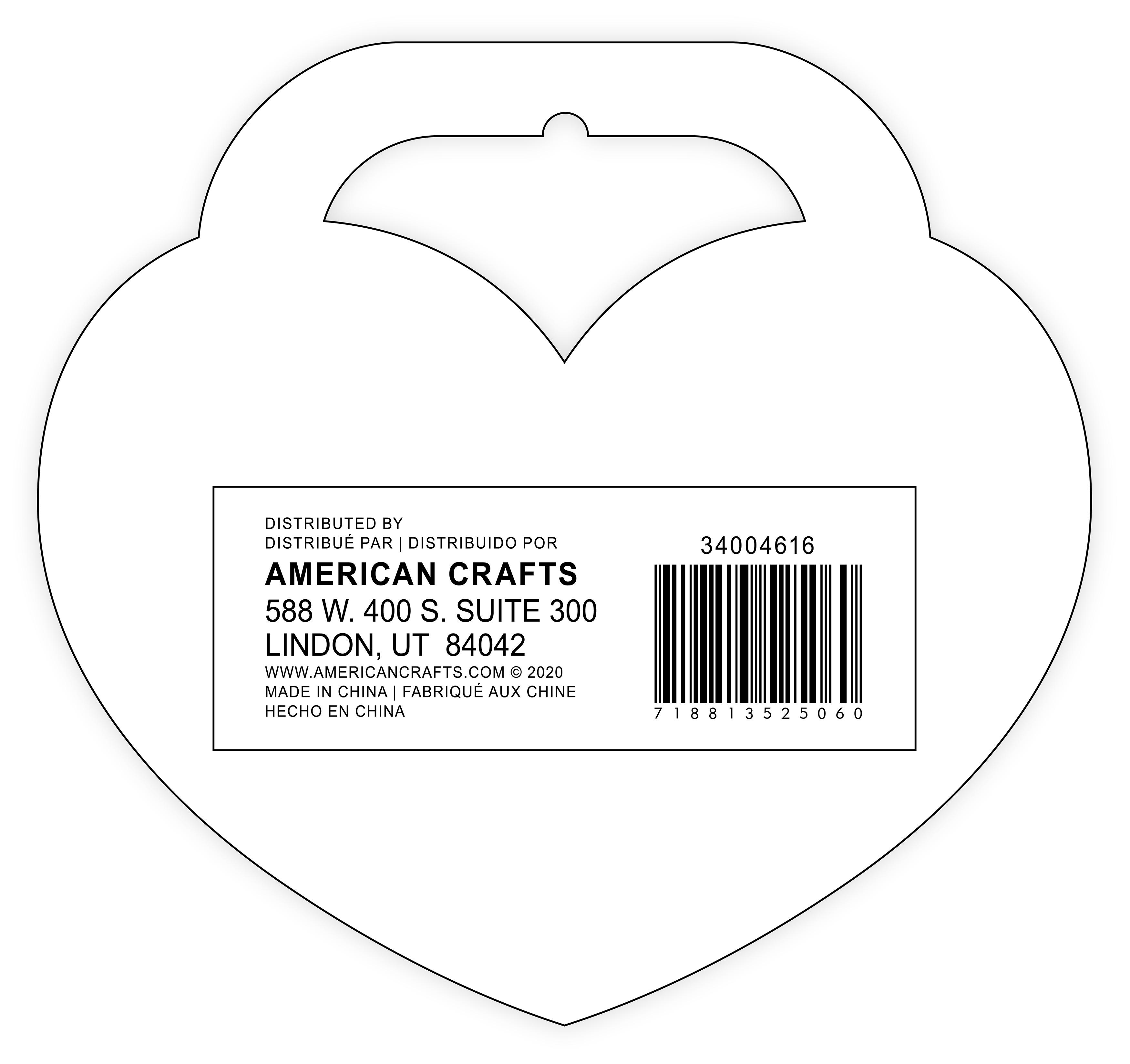 American Crafts Sticker Book 4/Sheets-Valentine, 100/Pkg