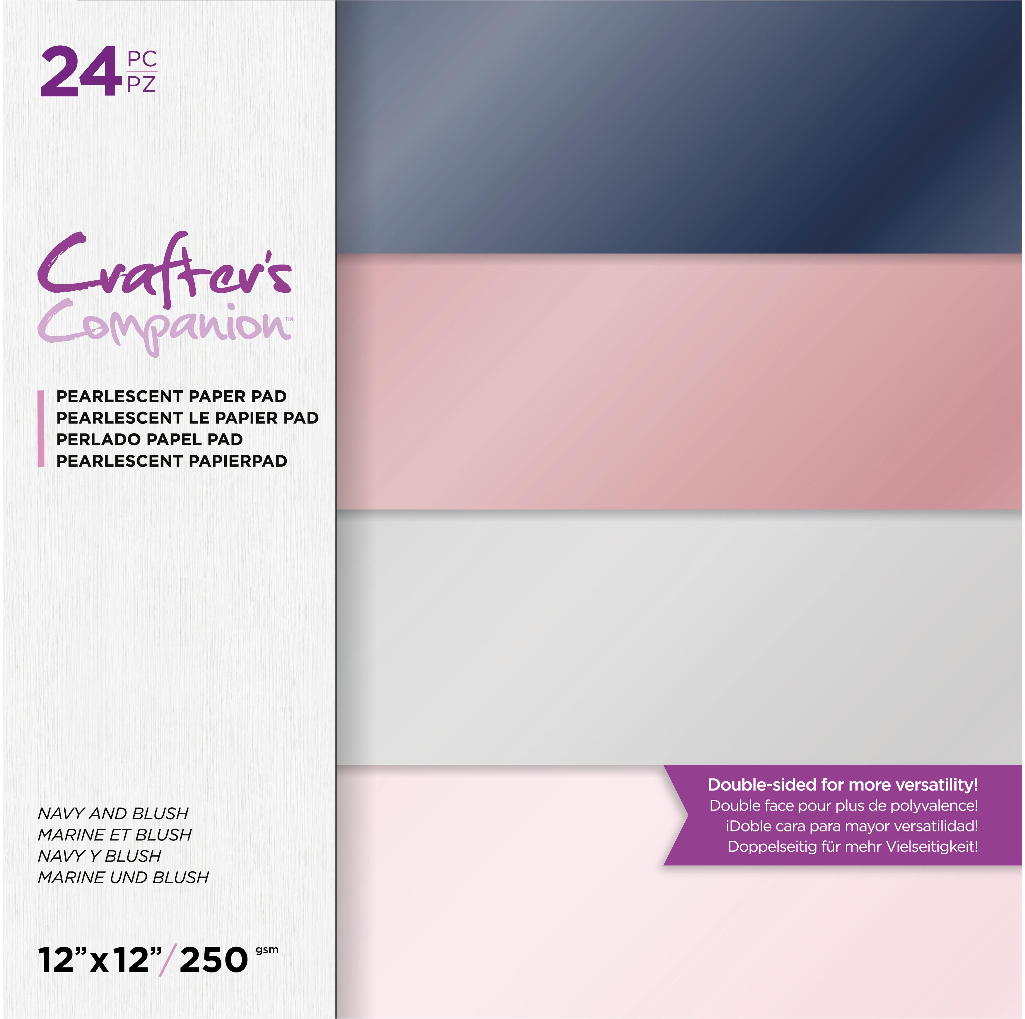 Navy & Blush Pearl Paper Pad 12X12