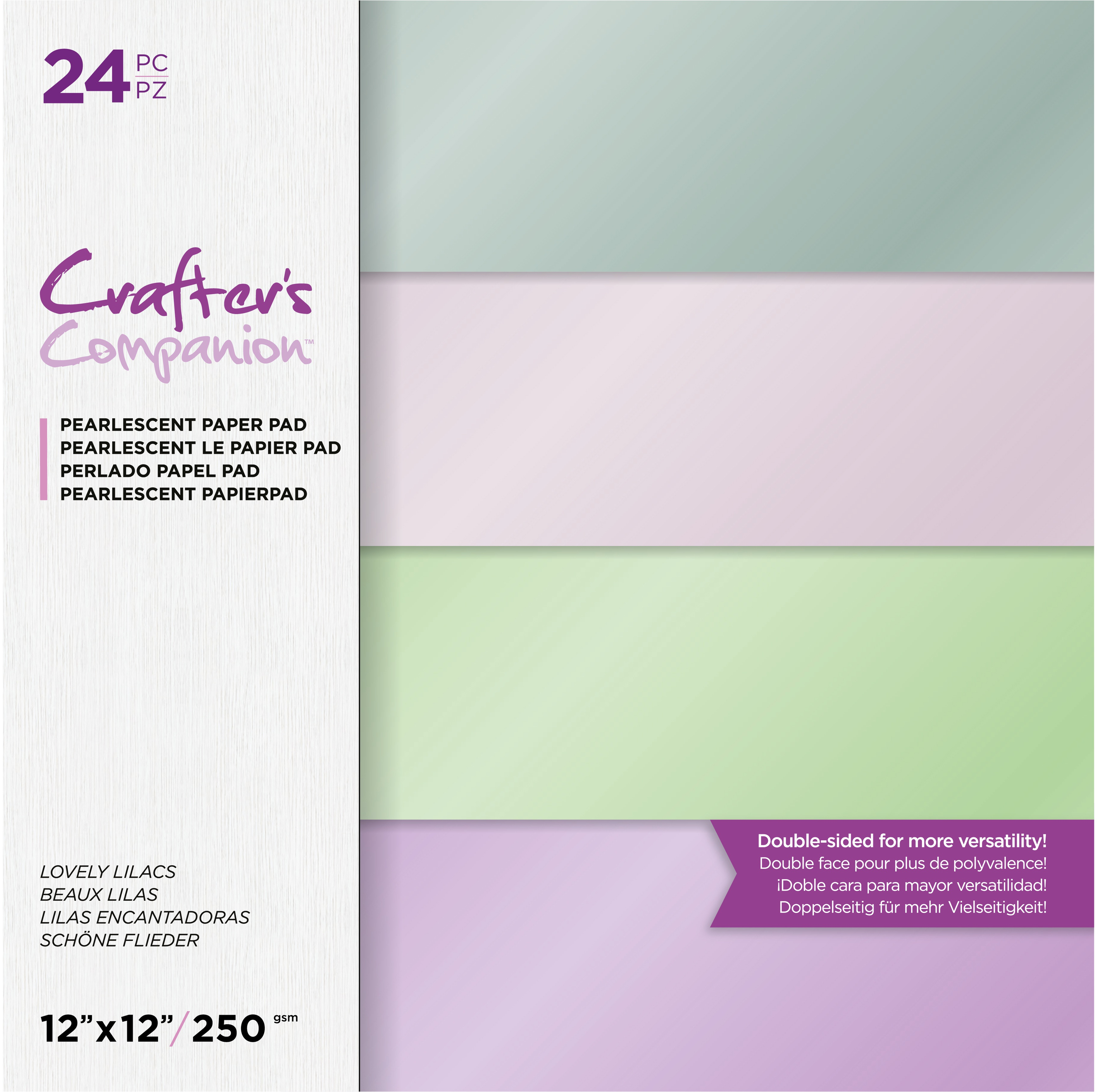 Lovely Lilacs Pearl Paper Pad 12X12