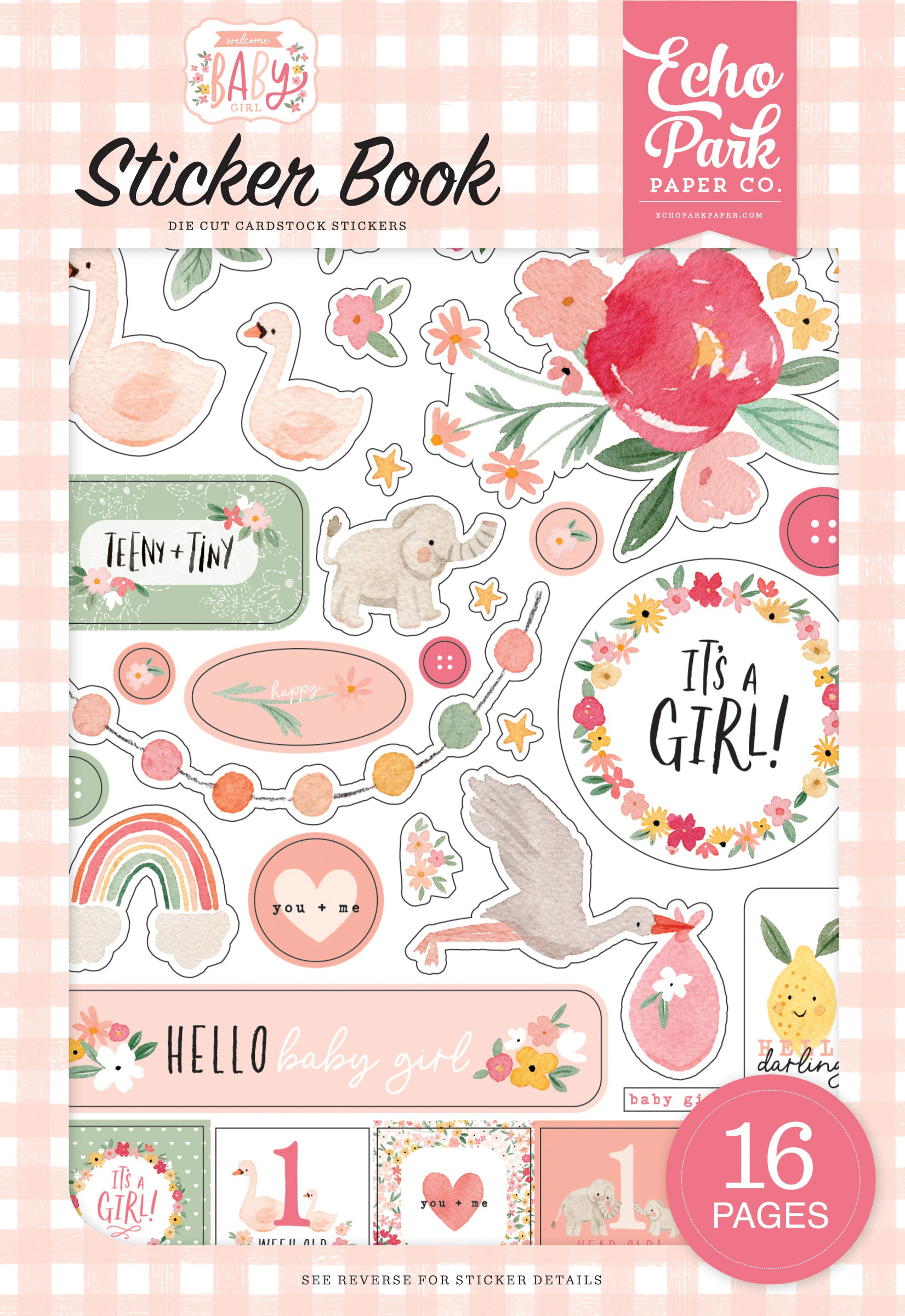 Echo Park Sticker Book-Welcome Baby Girl