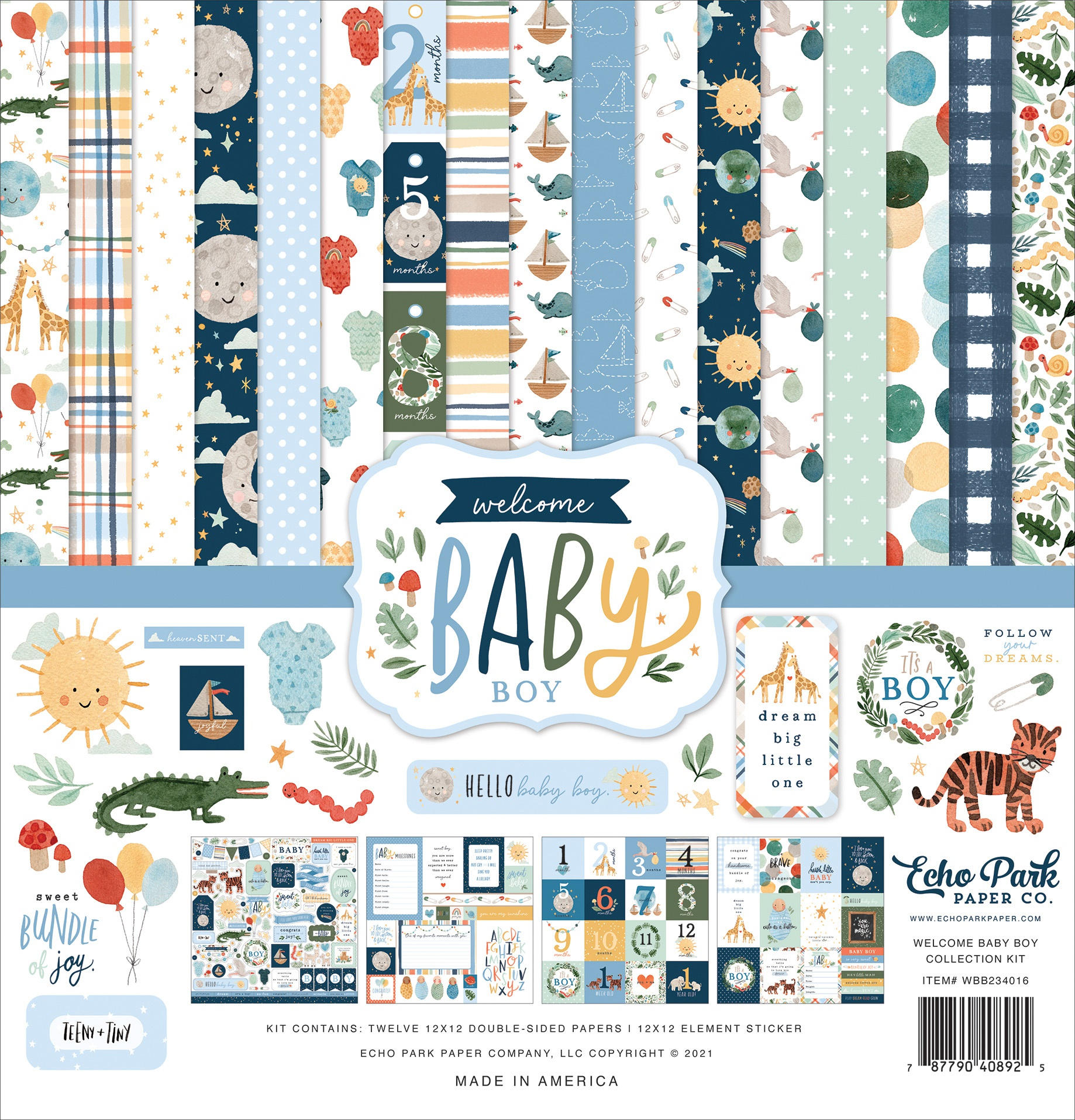 Echo Park Collection Kit 12X12-Welcome Baby Boy