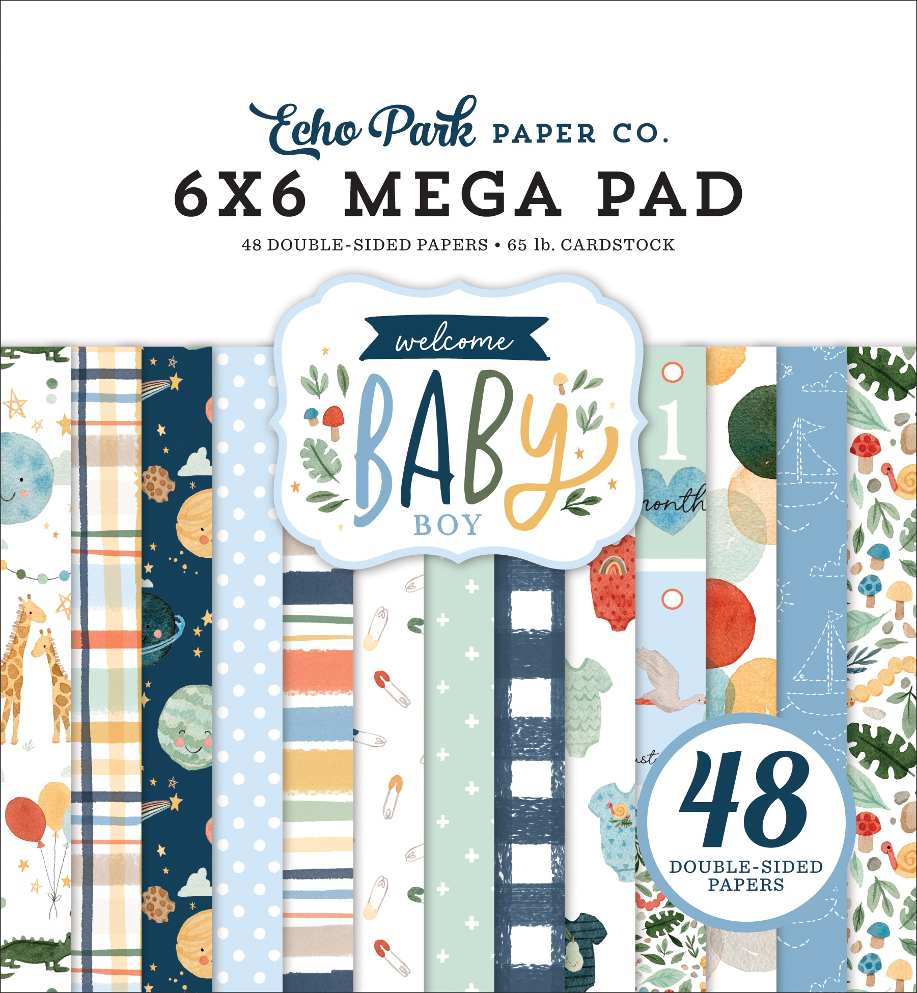 Echo Park - Welcome Baby Boy - 6x6 Mega Paper Pad