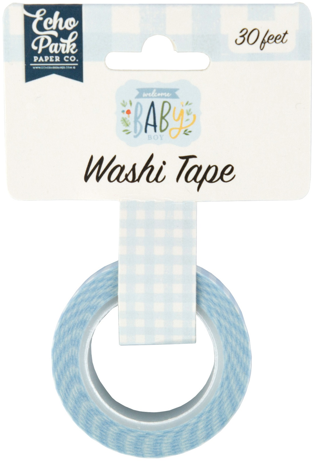 Echo Park - Welcome Baby Boy - Perfect Plaid Washi Tape