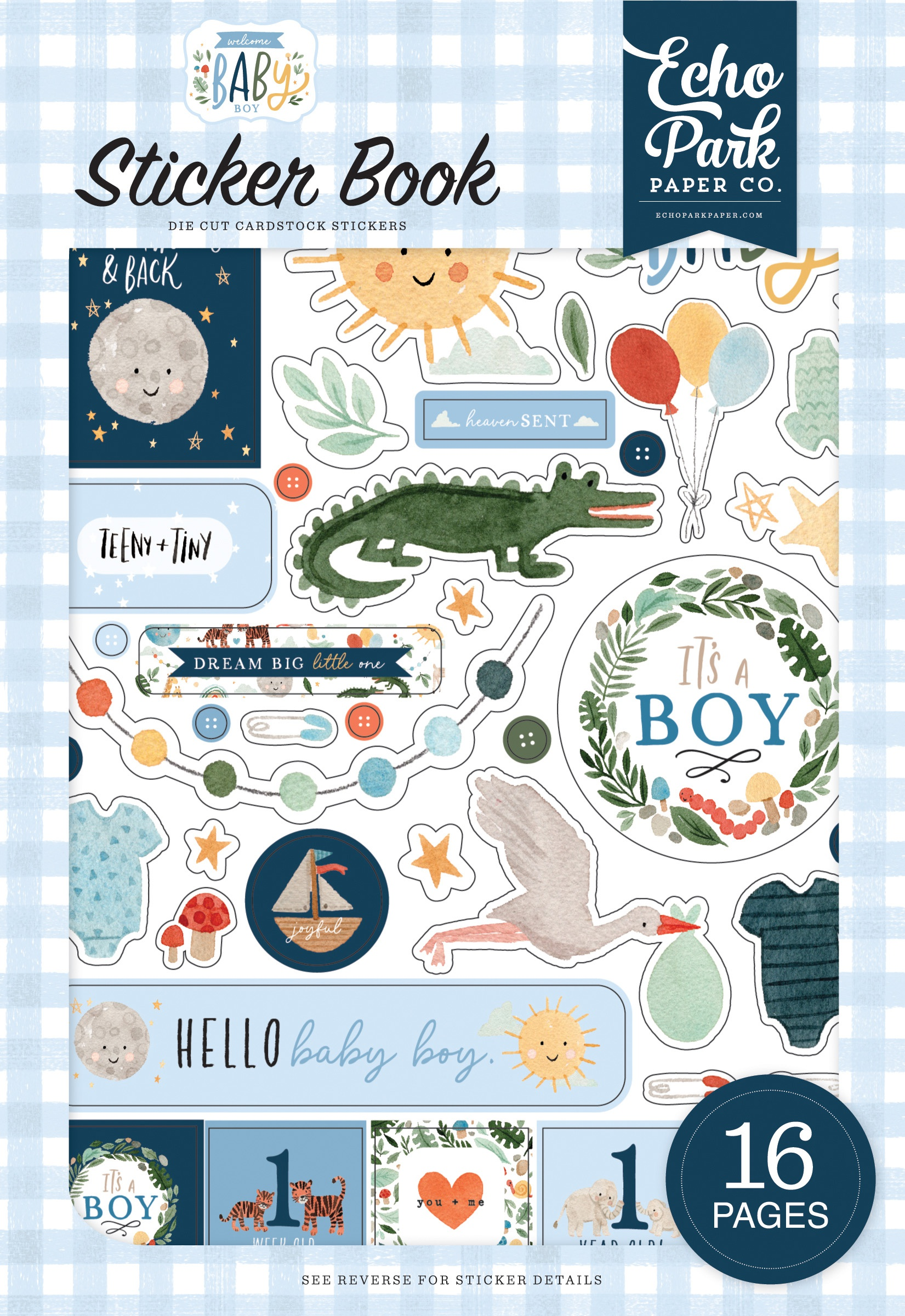 Echo Park Sticker Book-Welcome Baby Boy