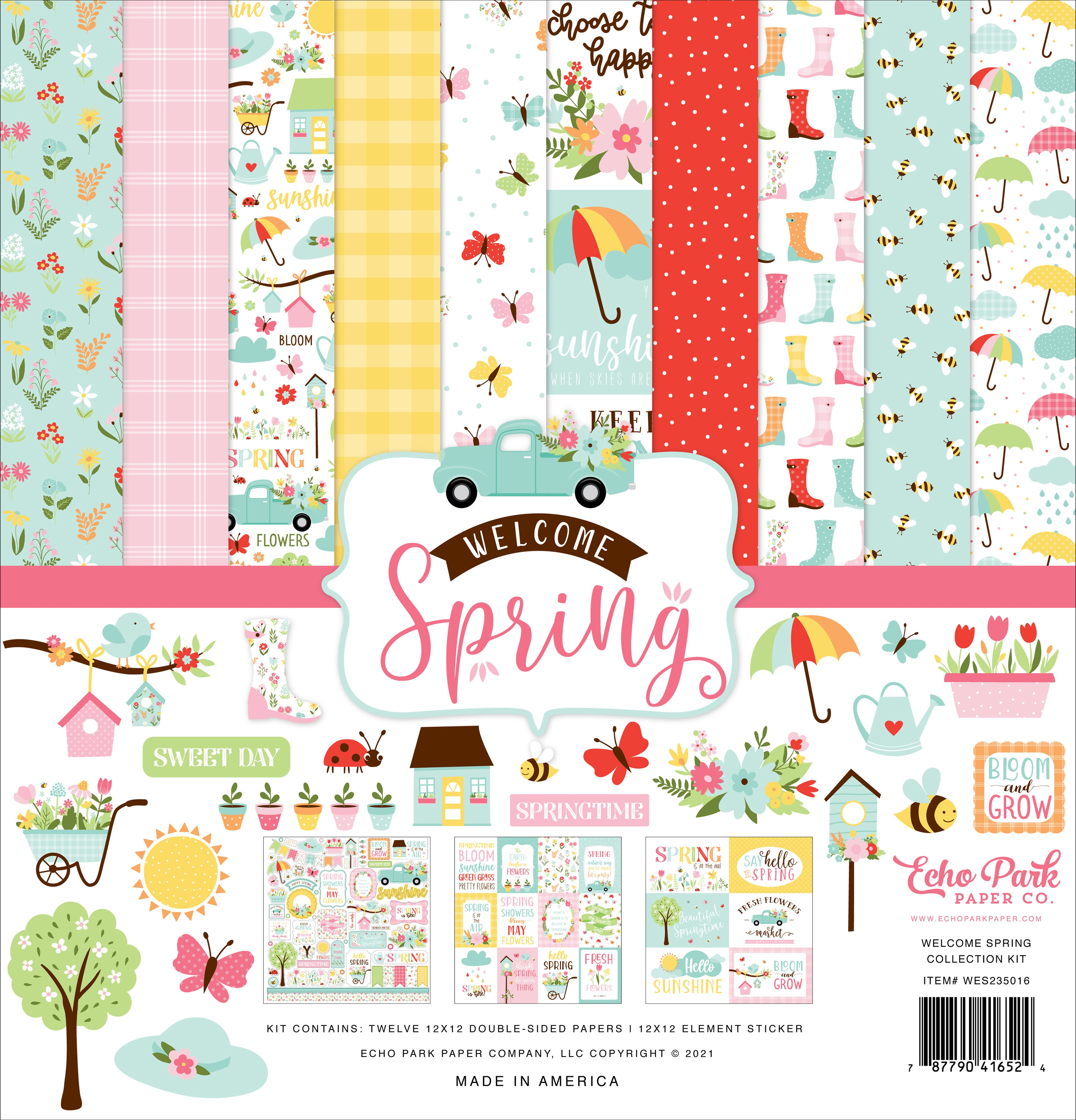 Echo Park Collection Kit 12X12-Welcome Spring