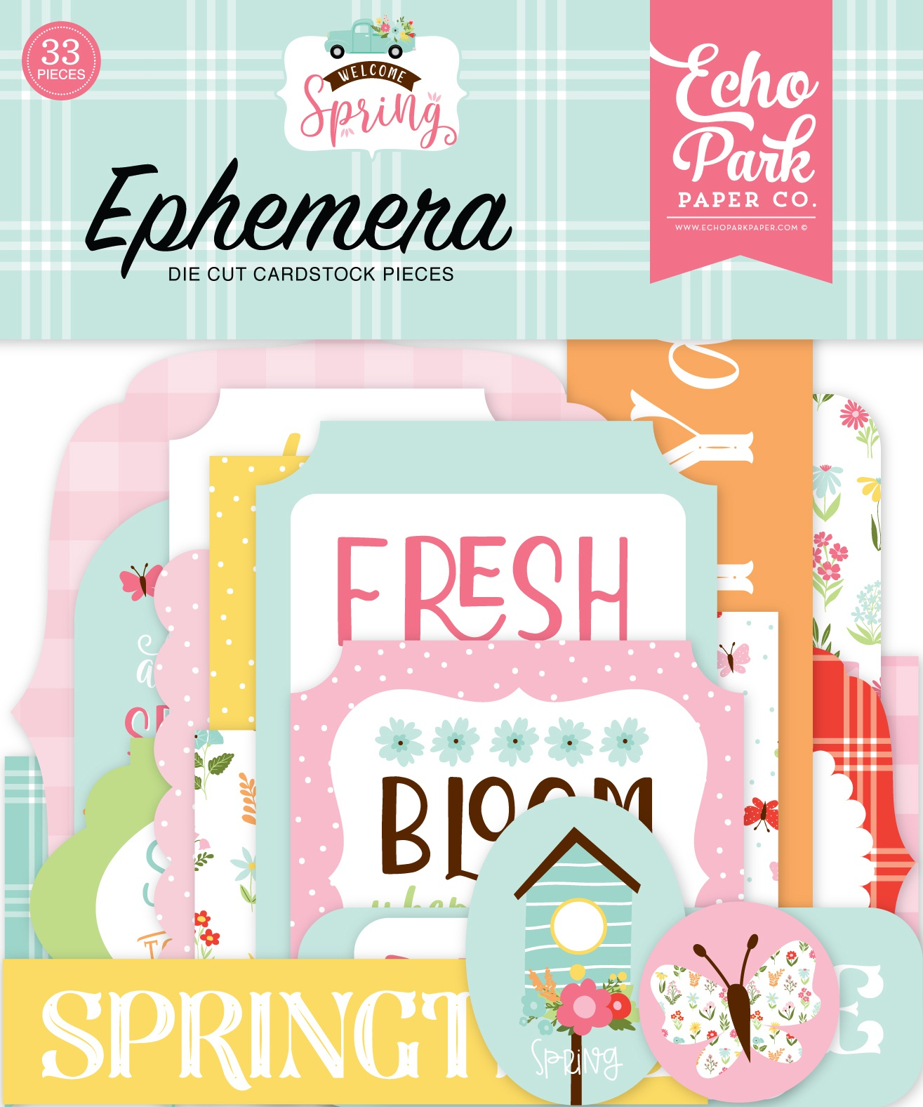 Echo Park Cardstock Ephemera 33/Pkg-Welcome Spring