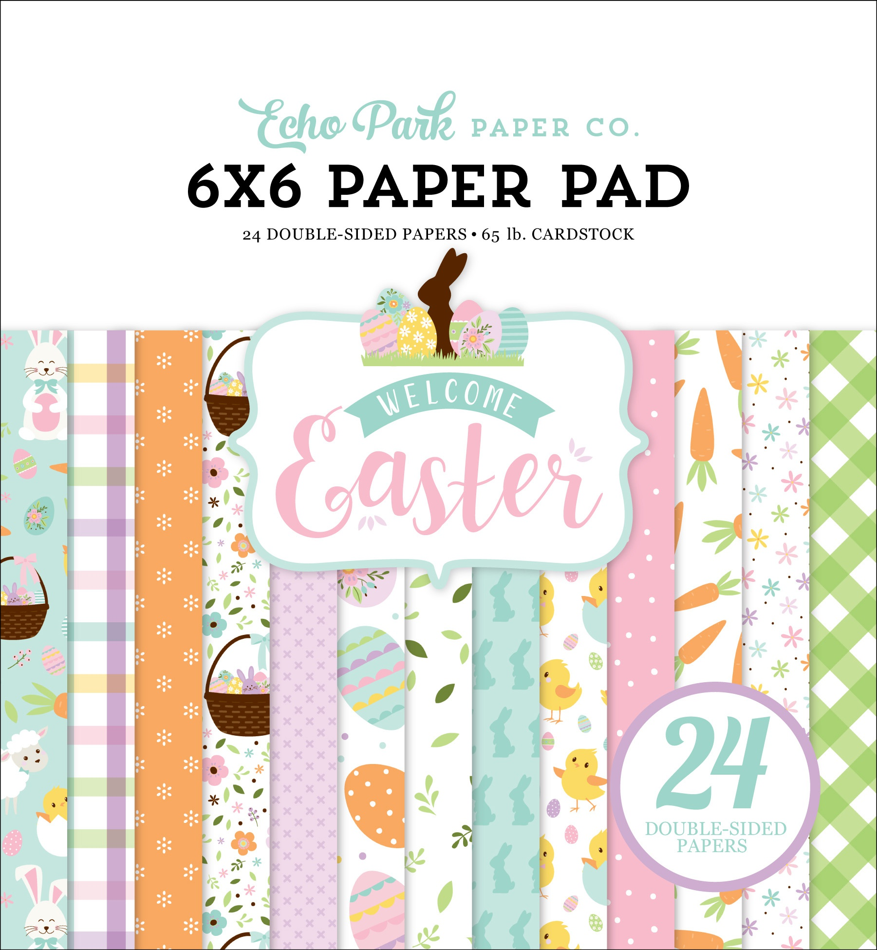 Echo Park Double-Sided Paper Pad 6X6 24/Pkg-Welcome Easter