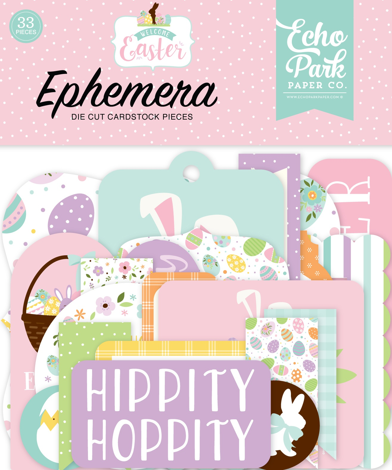 Echo Park Cardstock Ephemera 33/Pkg-Icons, Welcome Easter
