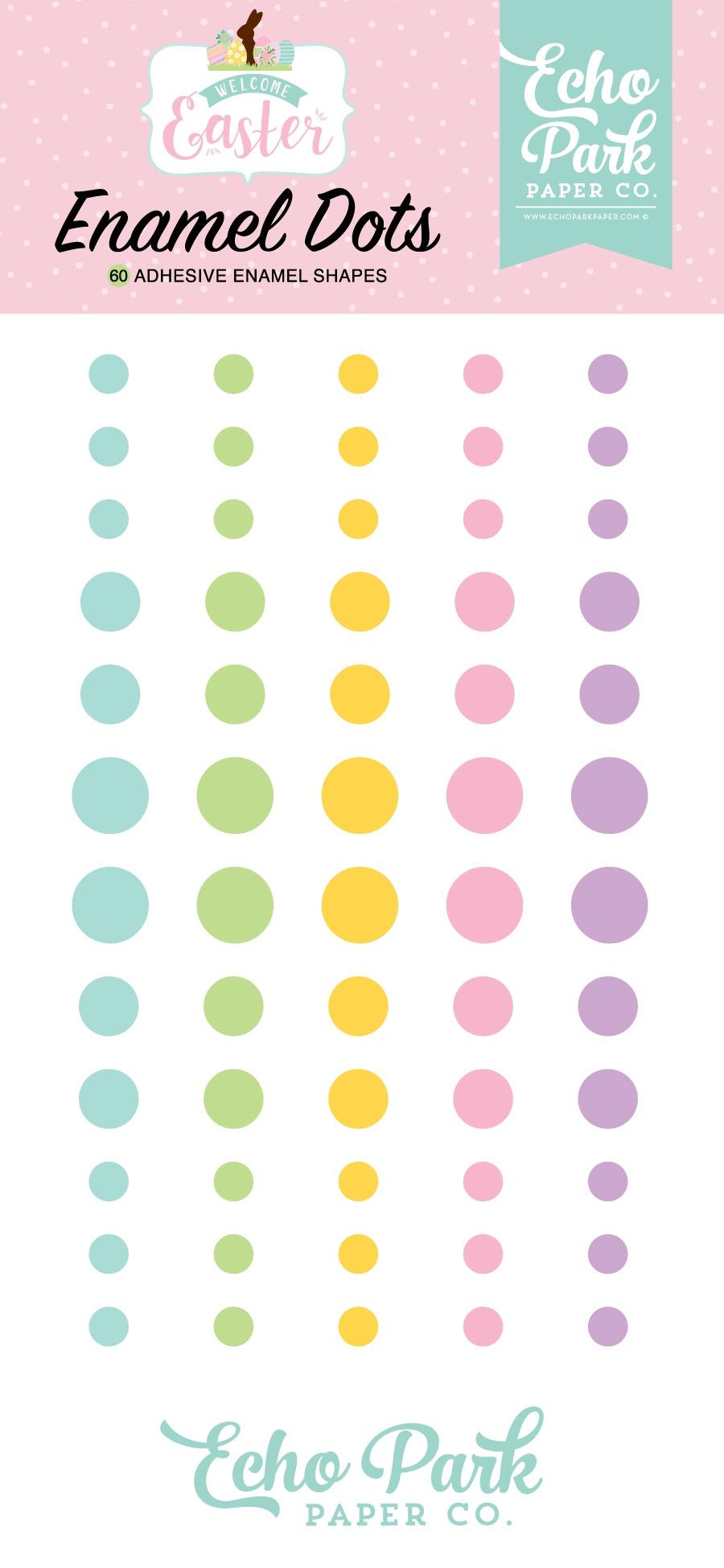 Echo Park Adhesive Enamel Dots 60/Pkg-Welcome Easter