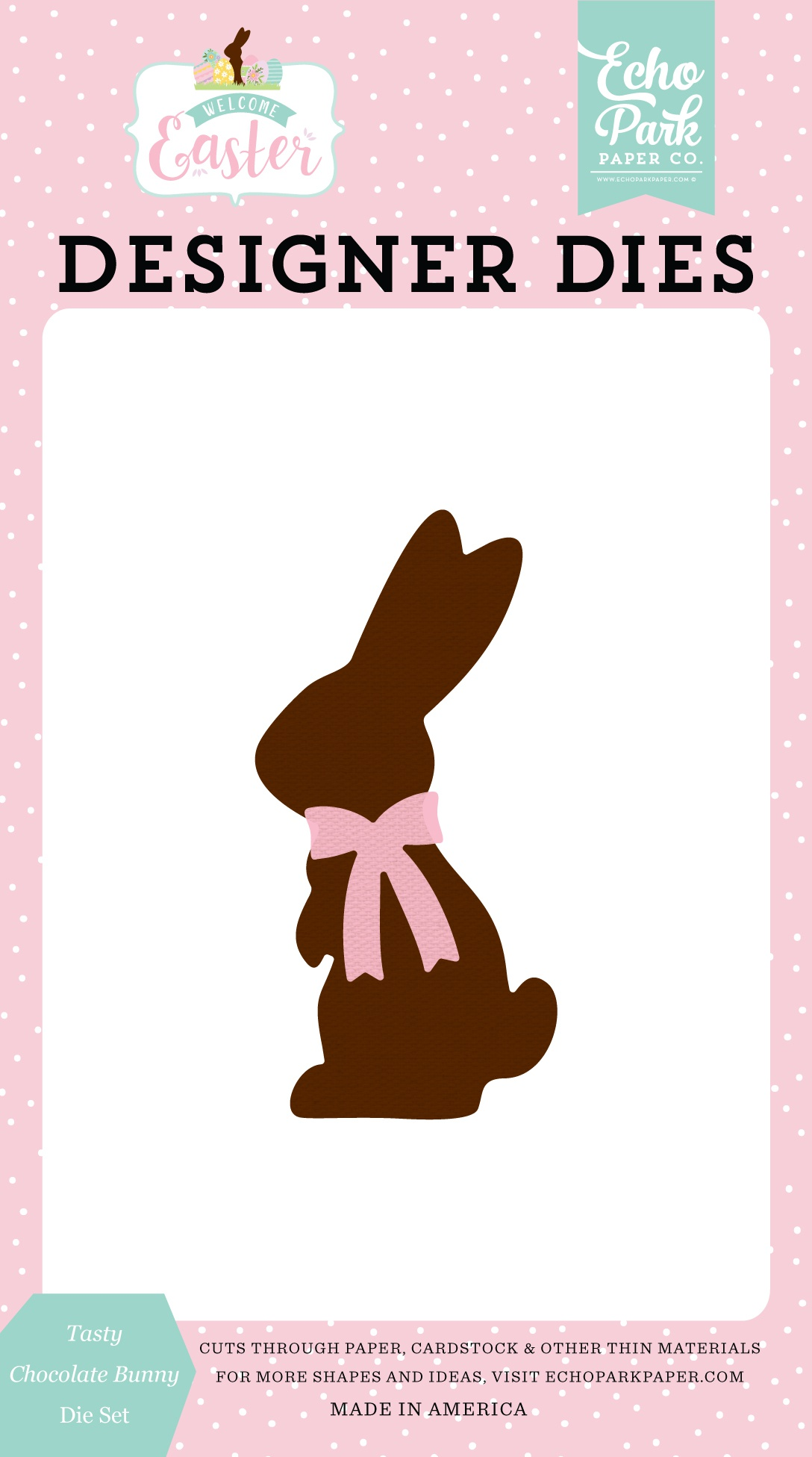 Echo Park Dies-Tasty Chocolate Bunny, Welcome Easter