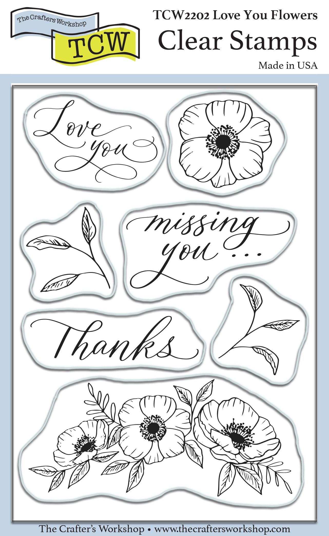 Crafter's Workshop Clear Stamps 4X6-Love You Flowers