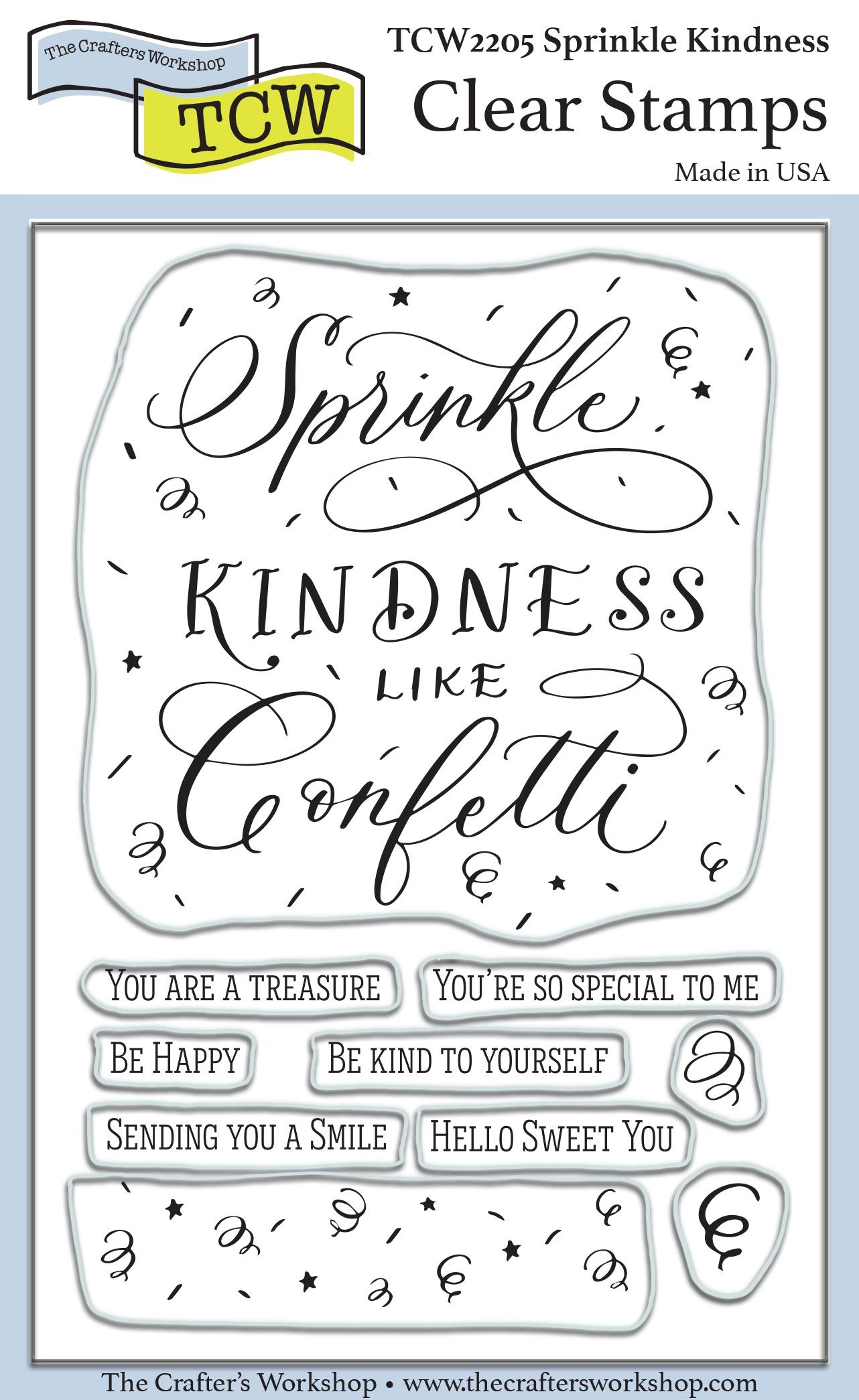 Crafter's Workshop Clear Stamps 4X6-Sprinkle Kindness