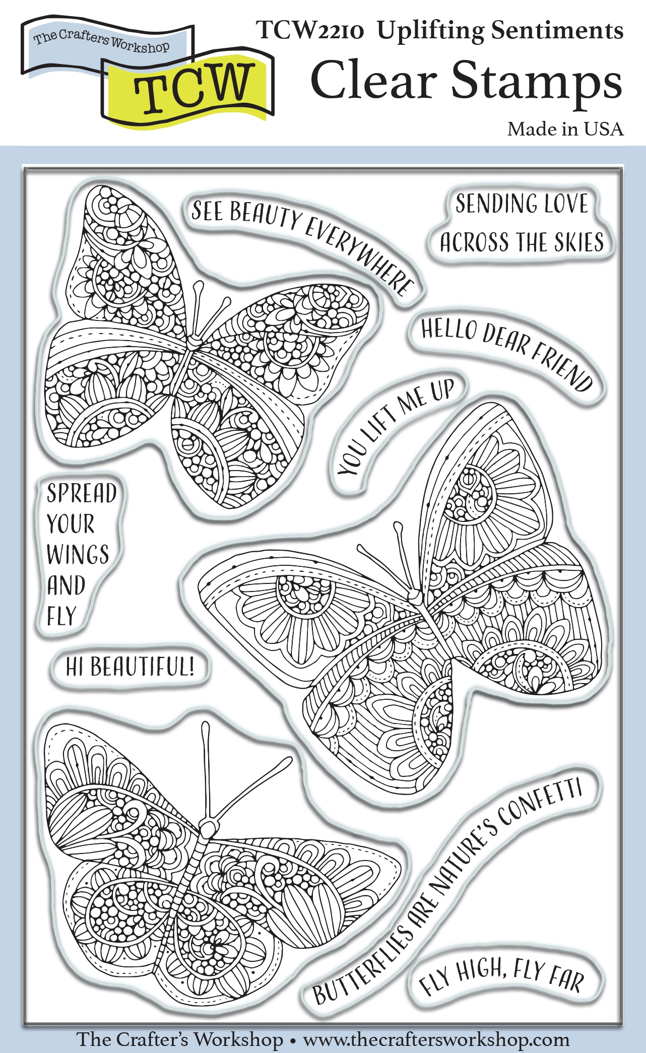 Crafter's Workshop Clear Stamps 4X6-Uplifting Sentiments