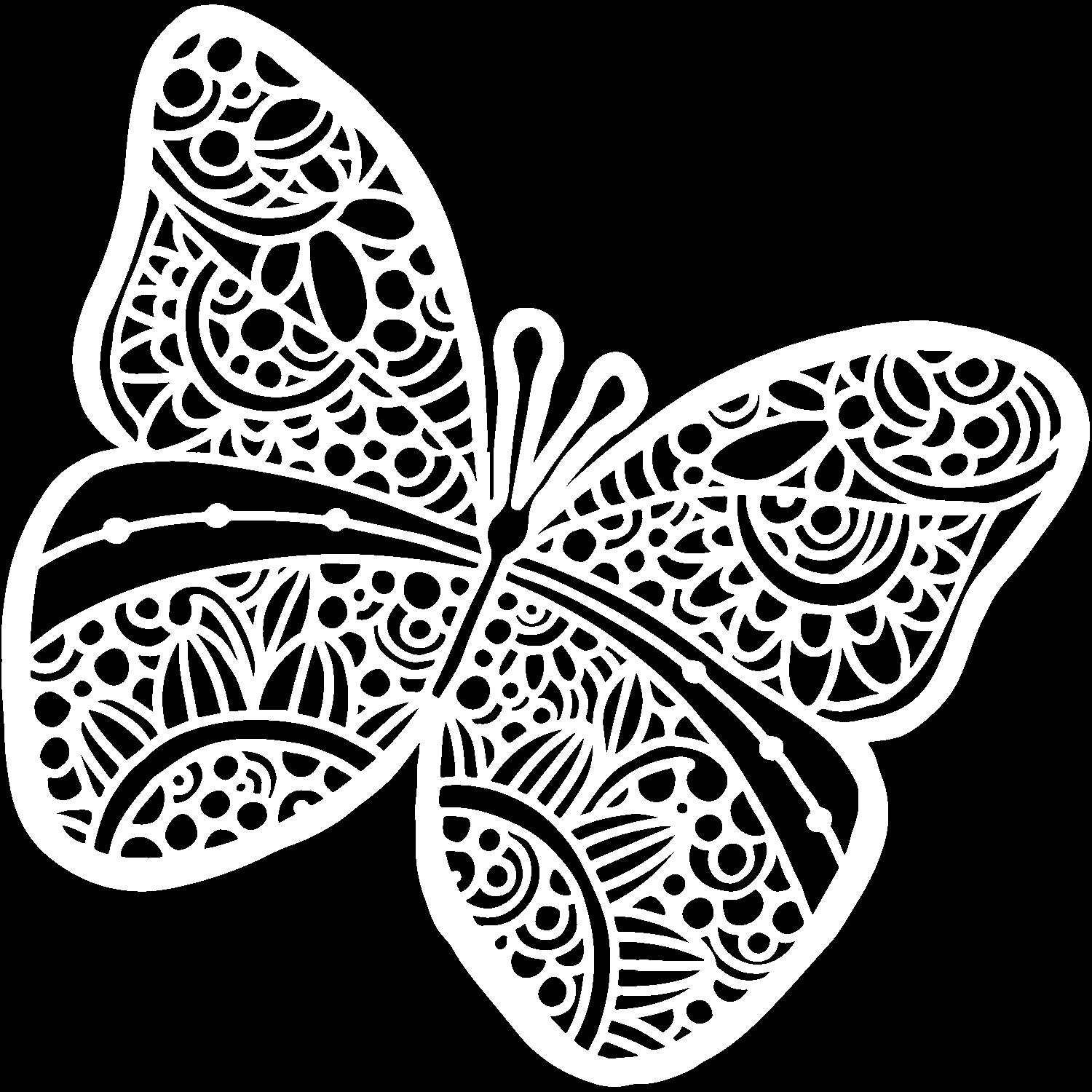 Crafter's Workshop Template 6X6-Sunny Butterfly
