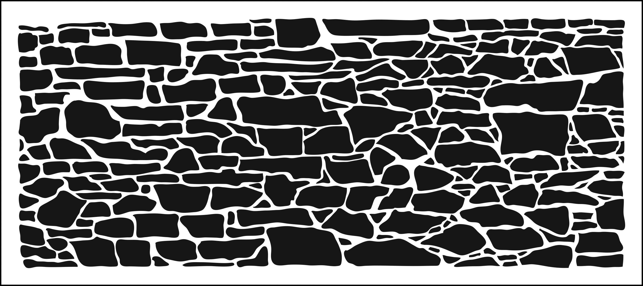 TCW - Slimline Stencil - Rock Wall