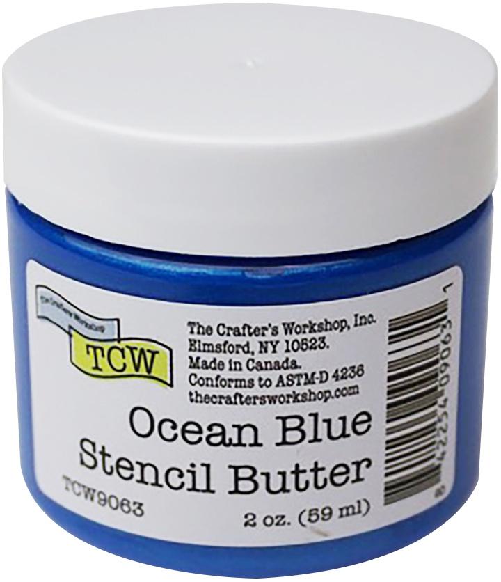 Crafter's Workshop Stencil Butter 2oz-Ocean Blue