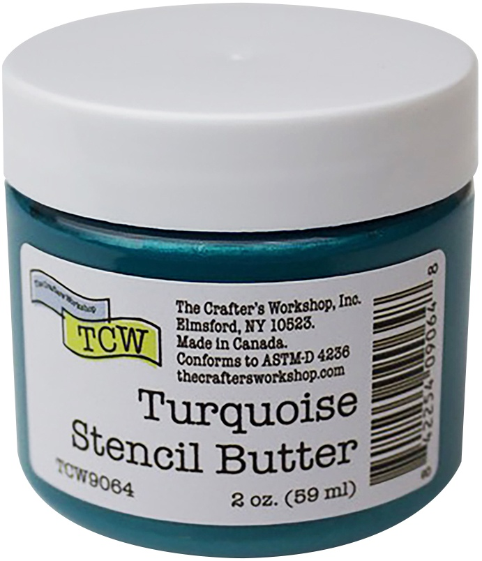 Crafter's Workshop Stencil Butter 2oz-Turquoise
