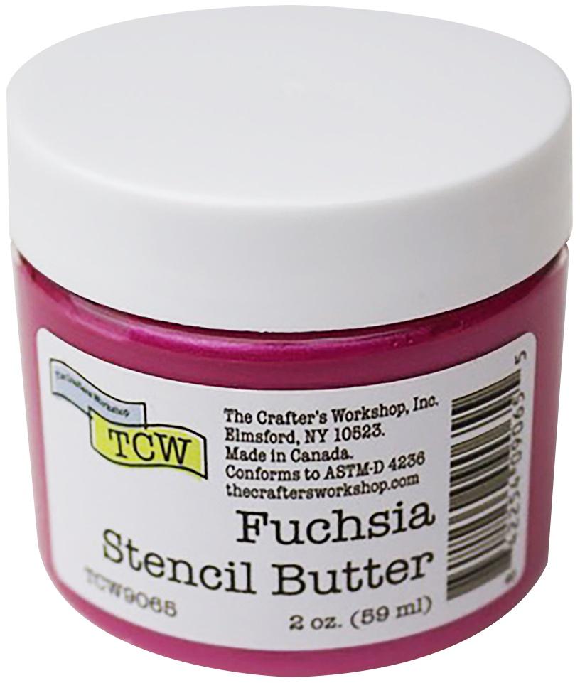 Crafter's Workshop Stencil Butter 2oz-Fuchsia