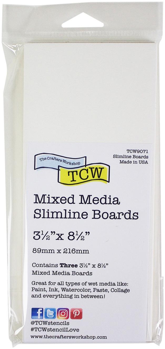 Crafter's Workshop Mixed Media Board 3.5X8.5 3/Pkg-