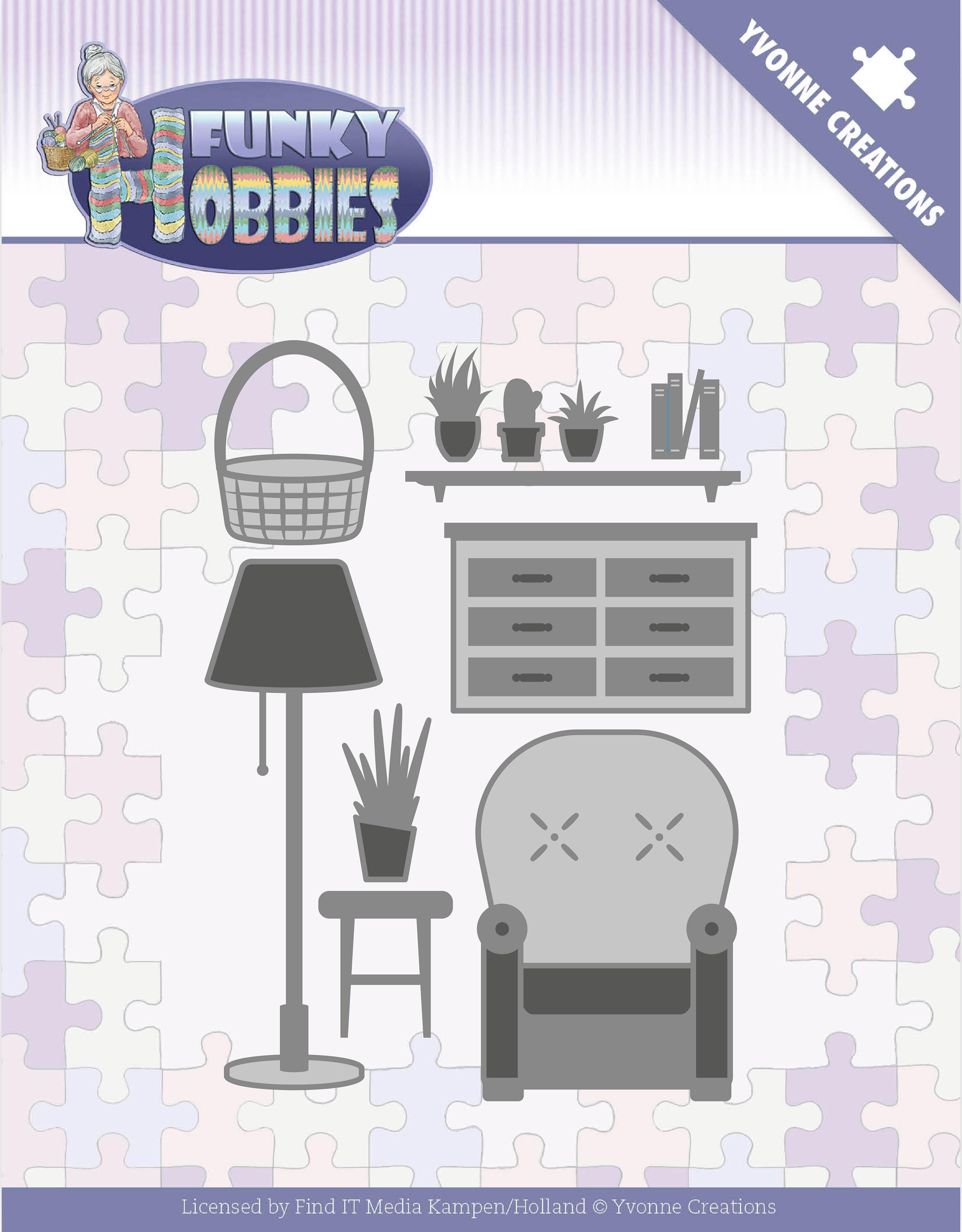 Find It Trading Yvonne Creations Die-Living Room, Funky Hobbies