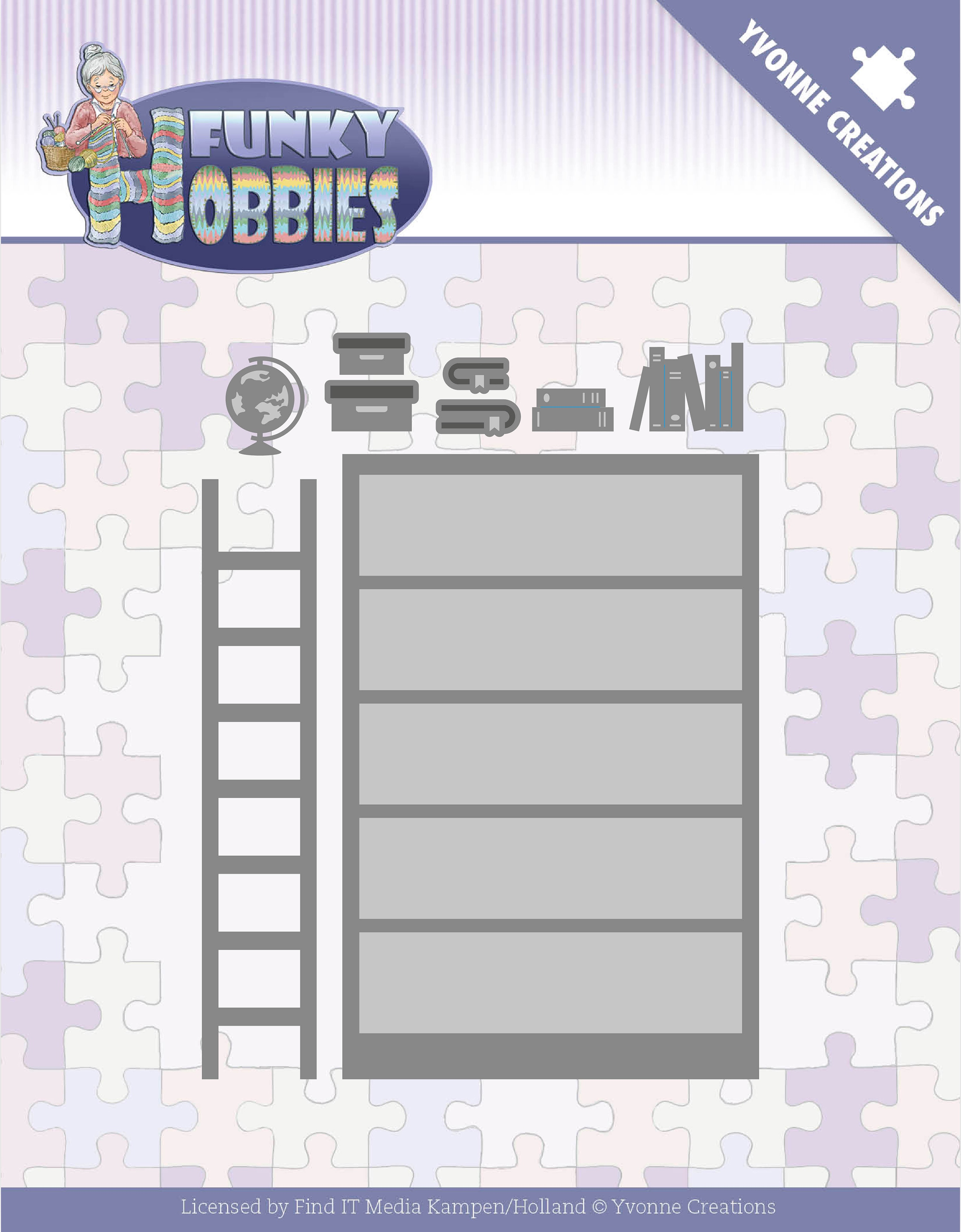 Find It Trading Yvonne Creations Die-Bookcase, Funky Hobbies