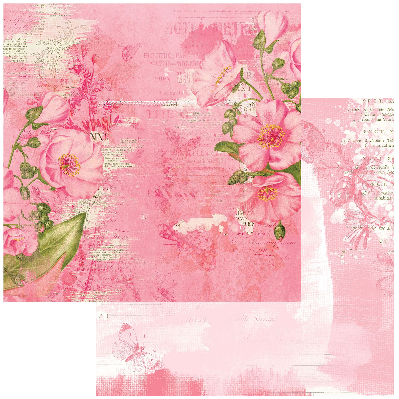 Vintage Artistry Blush Double-Sided Cardstock 12X12