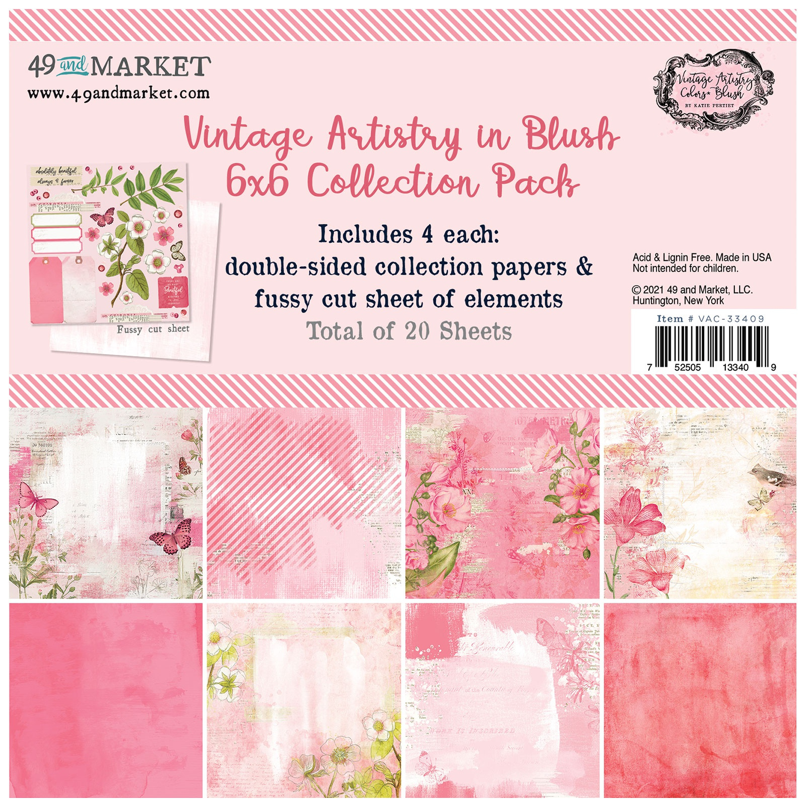 49 And Market Collection Pack 6X6-Vintage Artistry Blush