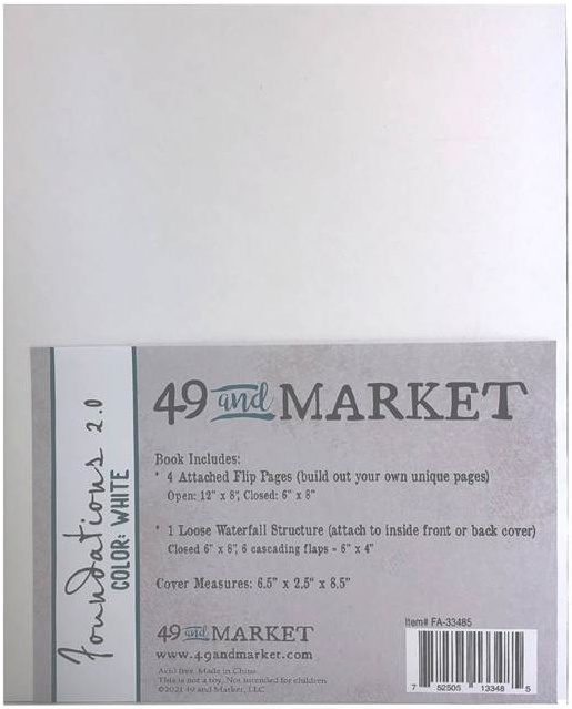 49 And Market Foundations Album 6X8-White